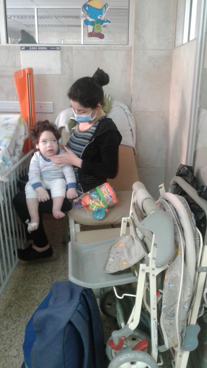 Tadeus receiving his carriage in the hospital