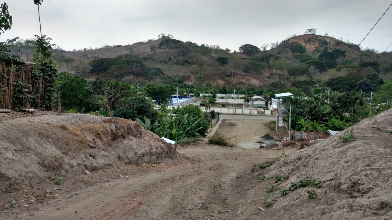 The relief shelter is at the top left, within the old high school grounds, where you see the blue tents.