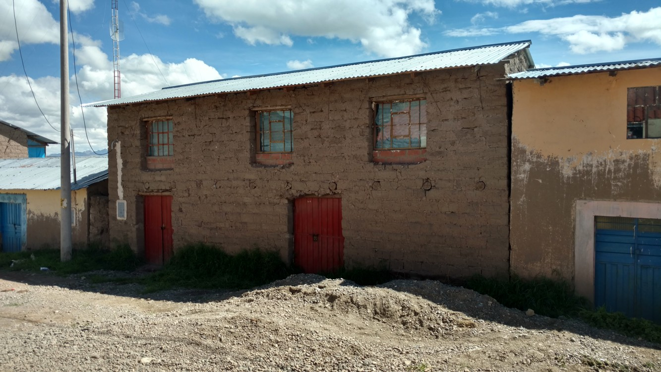 A typical house, made of adobe (mud-brick)
