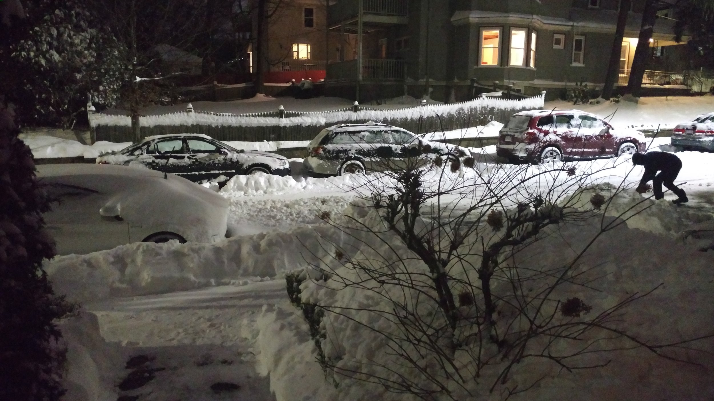 A view from outside my apartment last night.