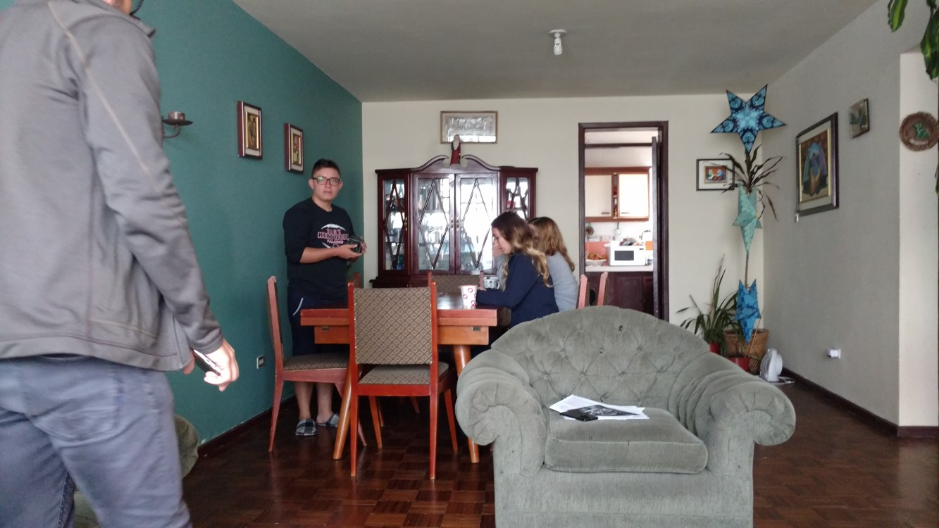 Relaxing at Rosa´s house
