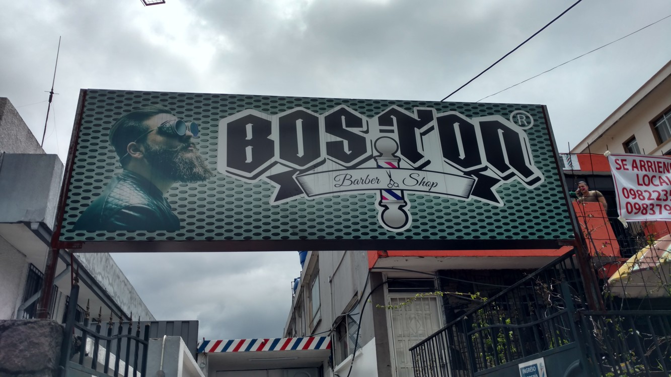 Boston barber shop in Quito!