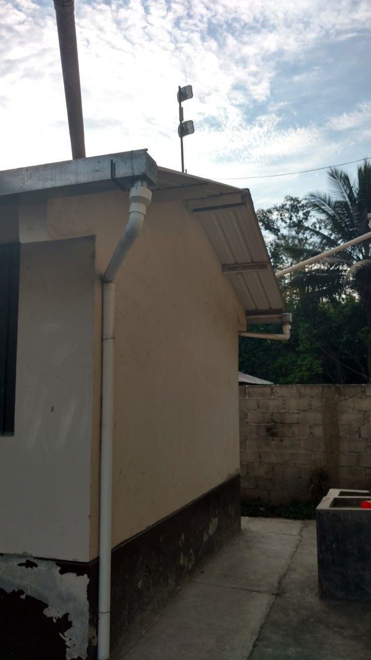 The internet antenna node for the community still sits on the church property.