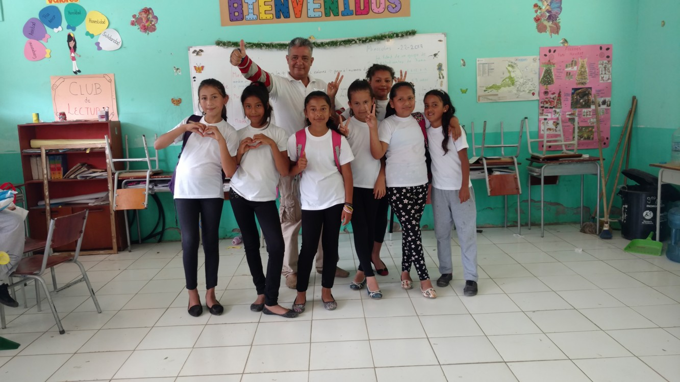 Samir and some of the fifth-graders