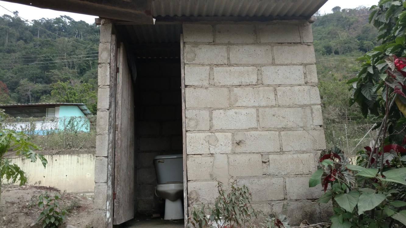 Bathroom outside the house