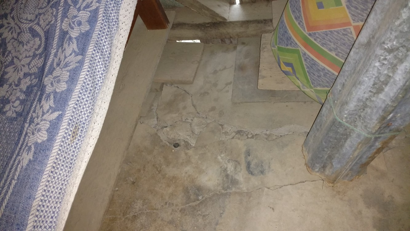 Major floor and possibly foundation problems