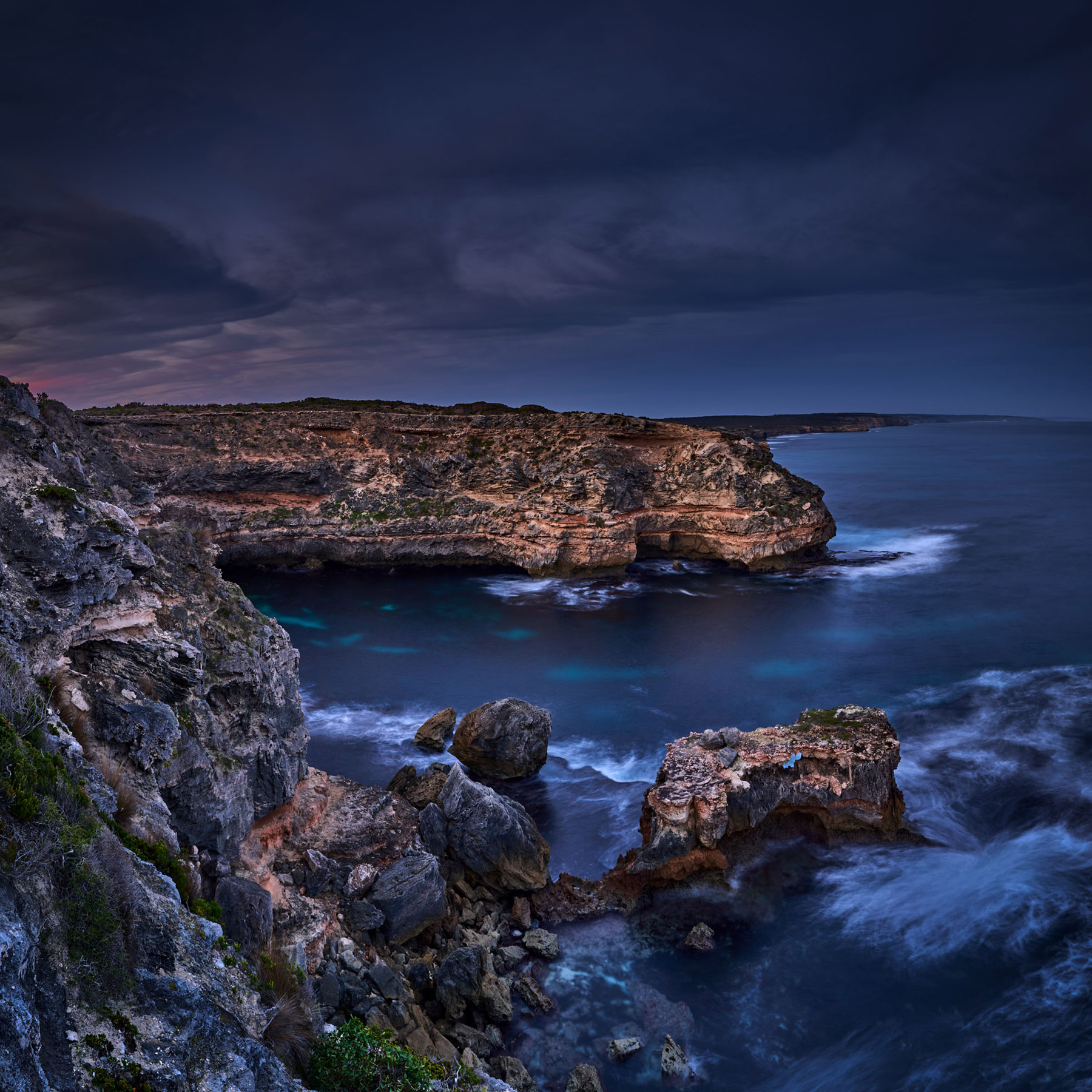 Cliff Top Dusk, Pennington Bay, Kangaroo Island. #3239