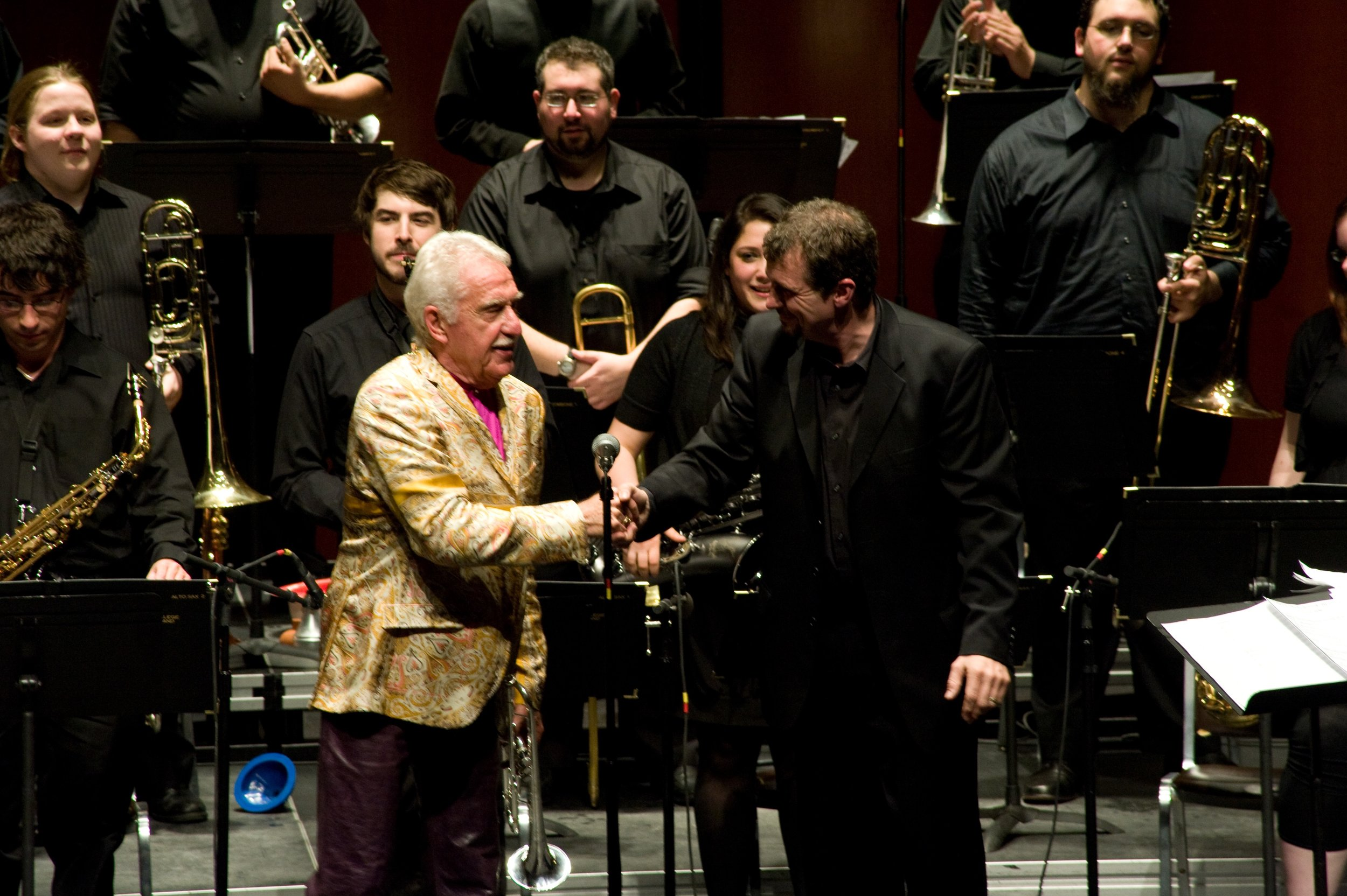 With Doc Severinsen and the Rhode Island College Jazz Band