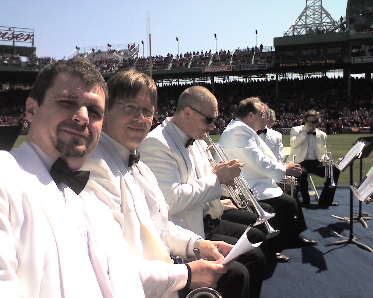 Boston Pops Brass Ensemble at Fenway Park with  Bruce Hall,  Terry Everson,  Jon Allmark, Dana Russian, Greg Whitacre,  and Dana Oakes