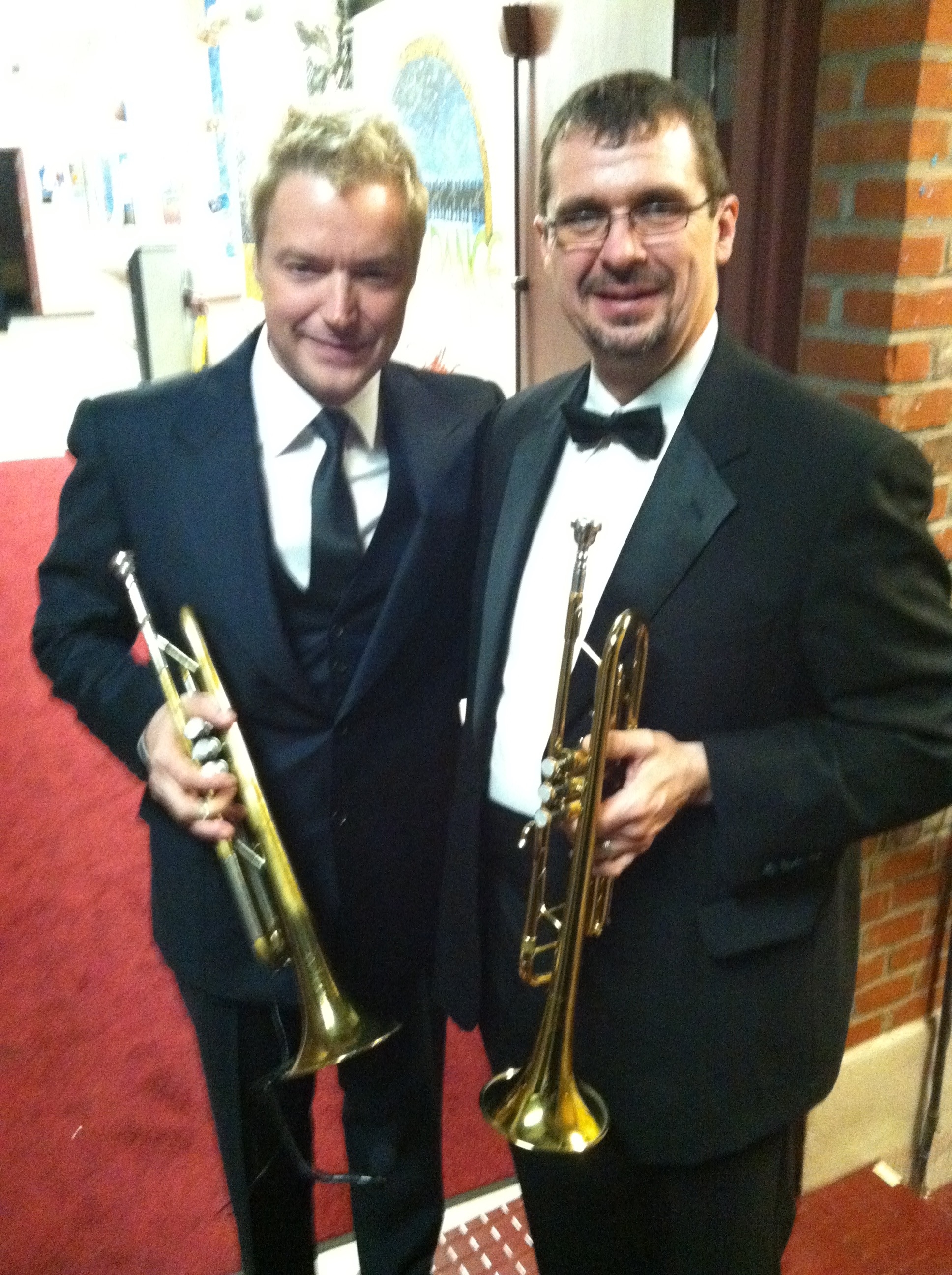 With Chris Botti at the Rhode Island Philharmonic