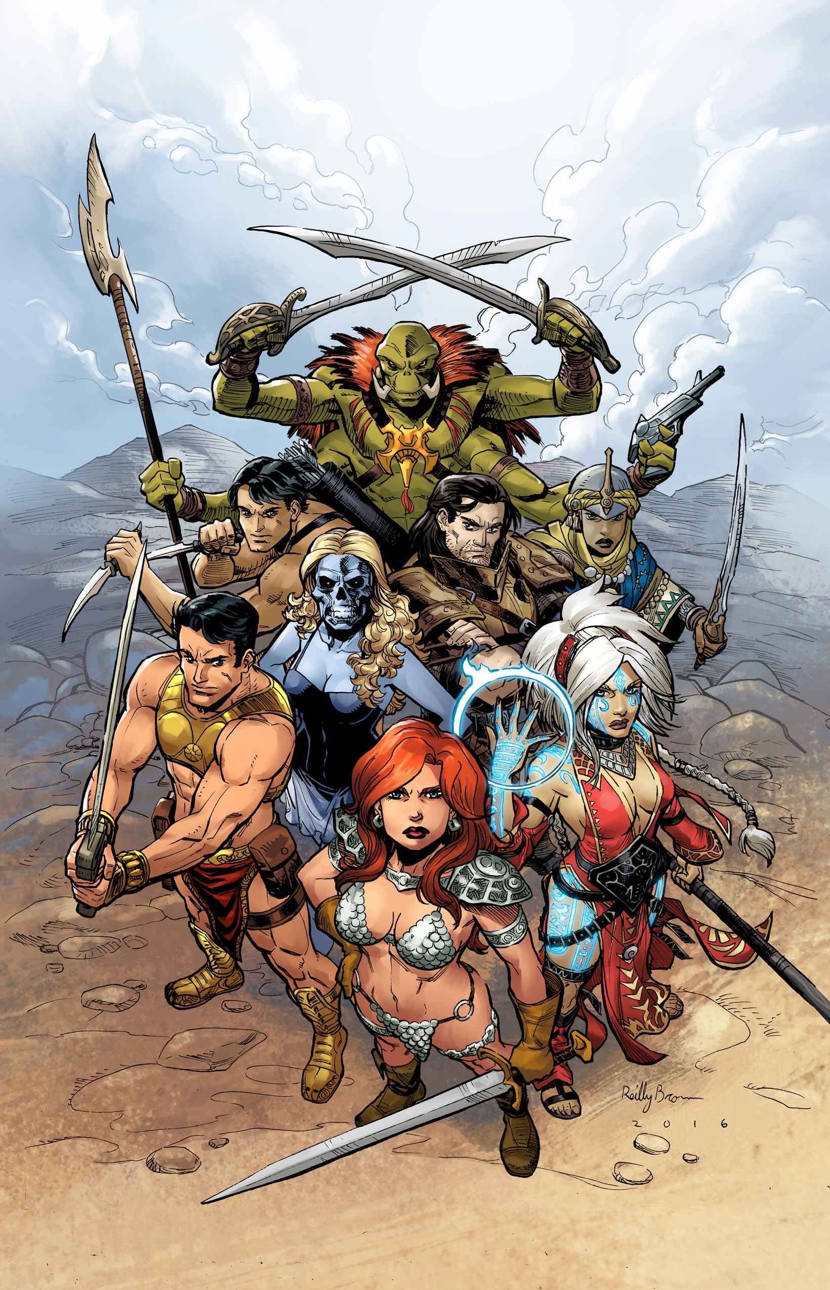 Pathfinder Worldscape #1, cover by Reilly Brown.(C) Dynamite Entertainment.