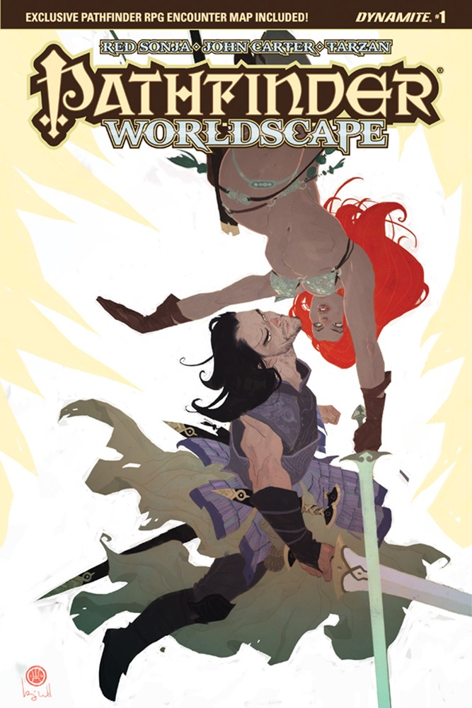 Pathfinder Worldscape #1, cover by Ben Caldwell. (c) Dynamite Entertainment.