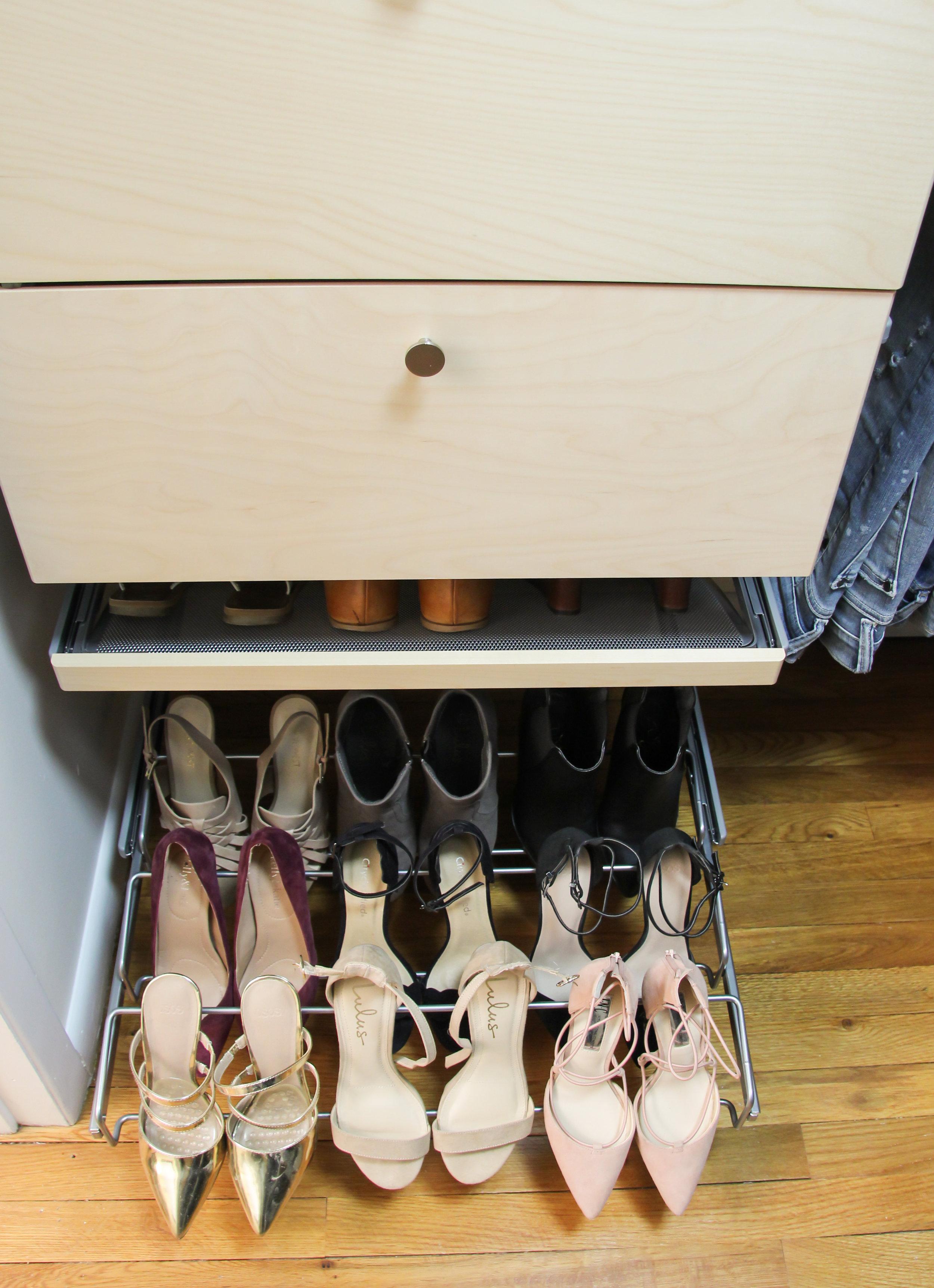 Elfa Shoe Storage