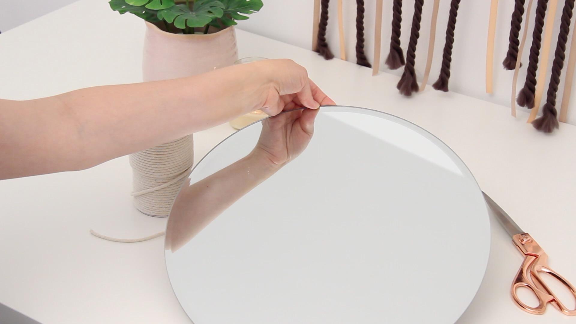 DIY Rattan Mirror