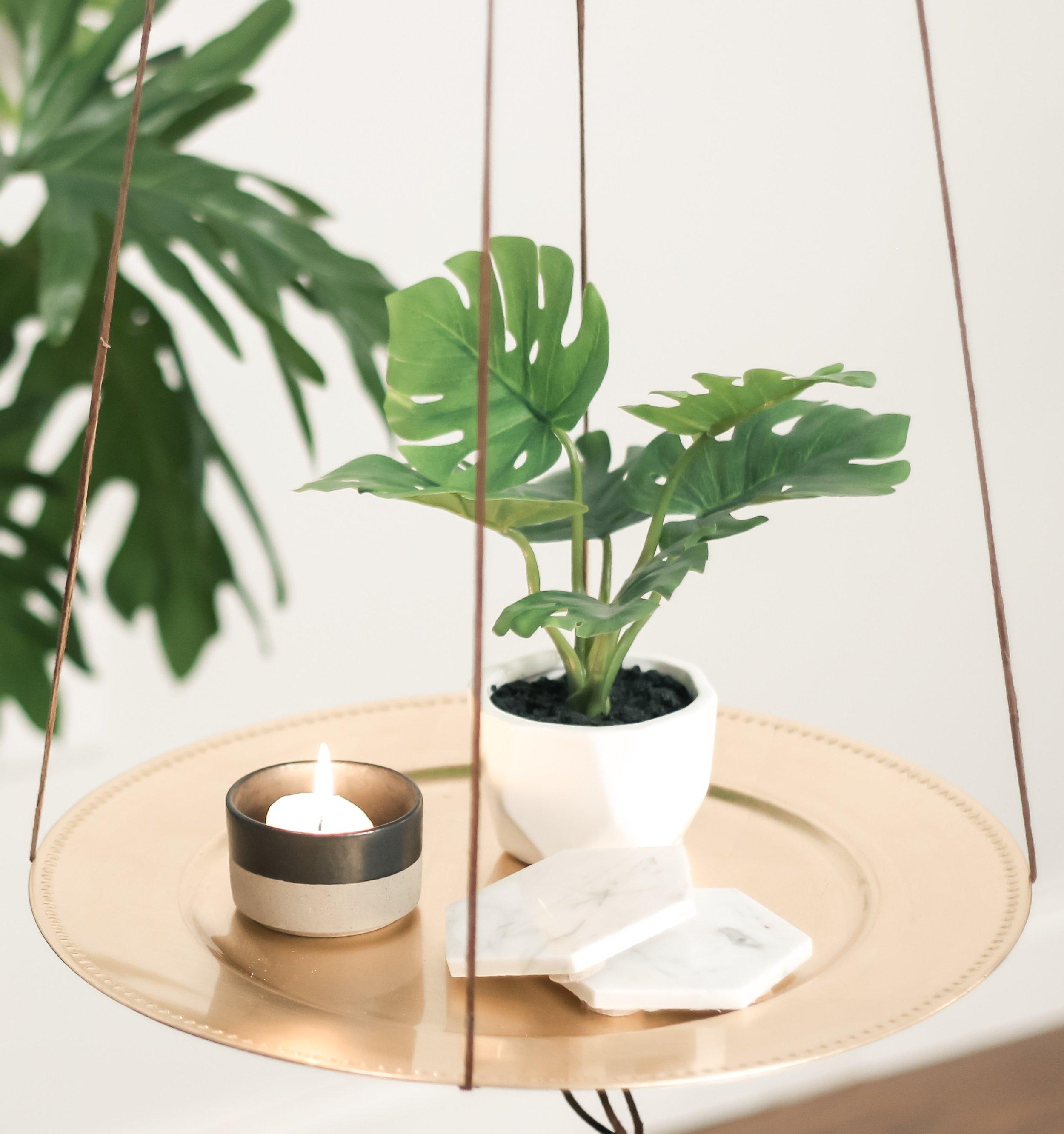 DIY Hanging Side Table