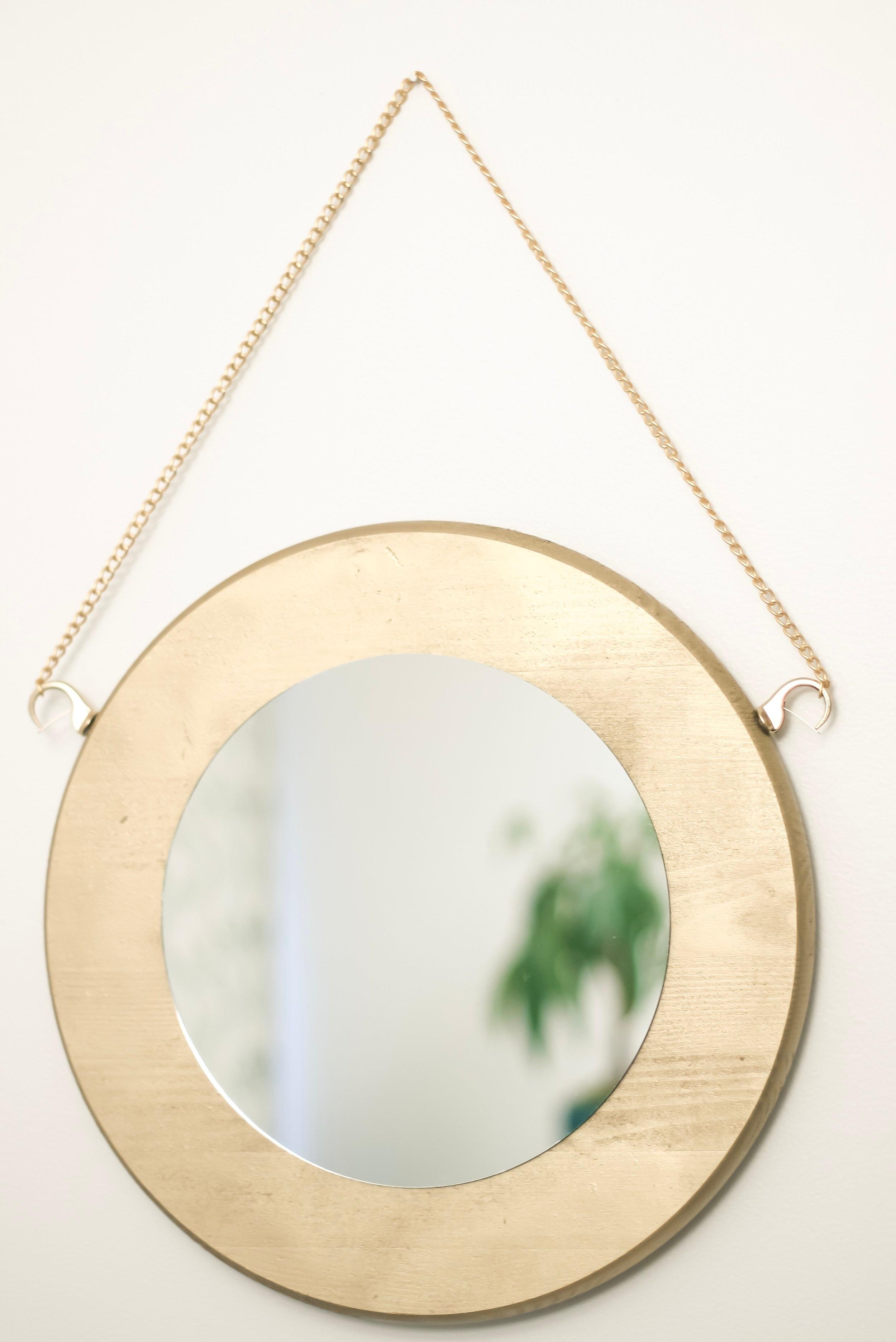 DIY Round Gold Mirror