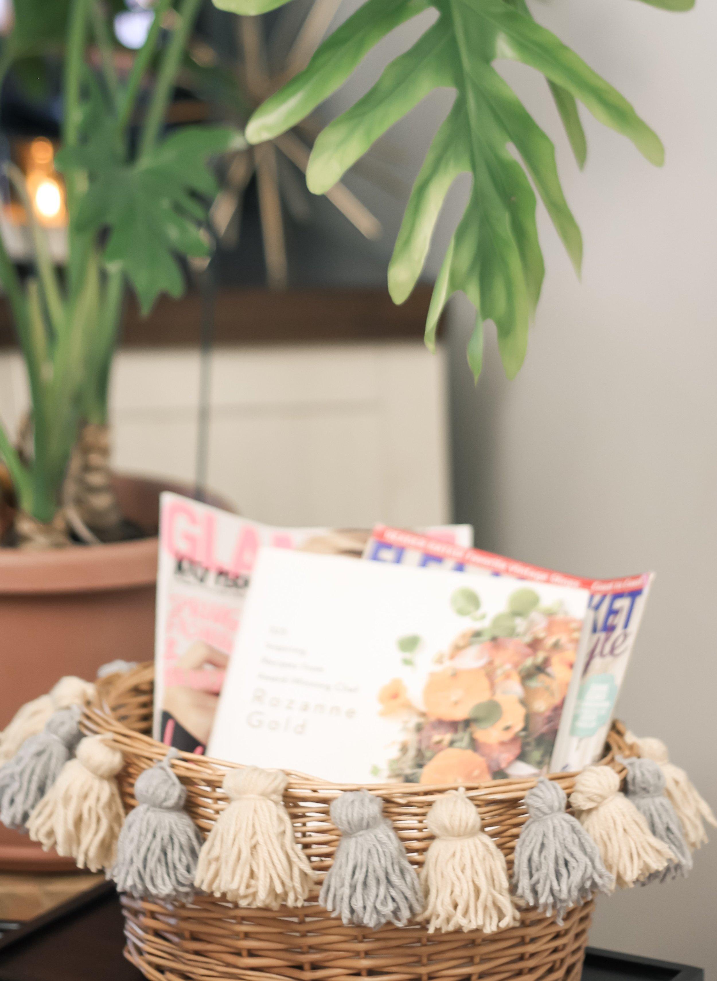 DIY Tassel Basket