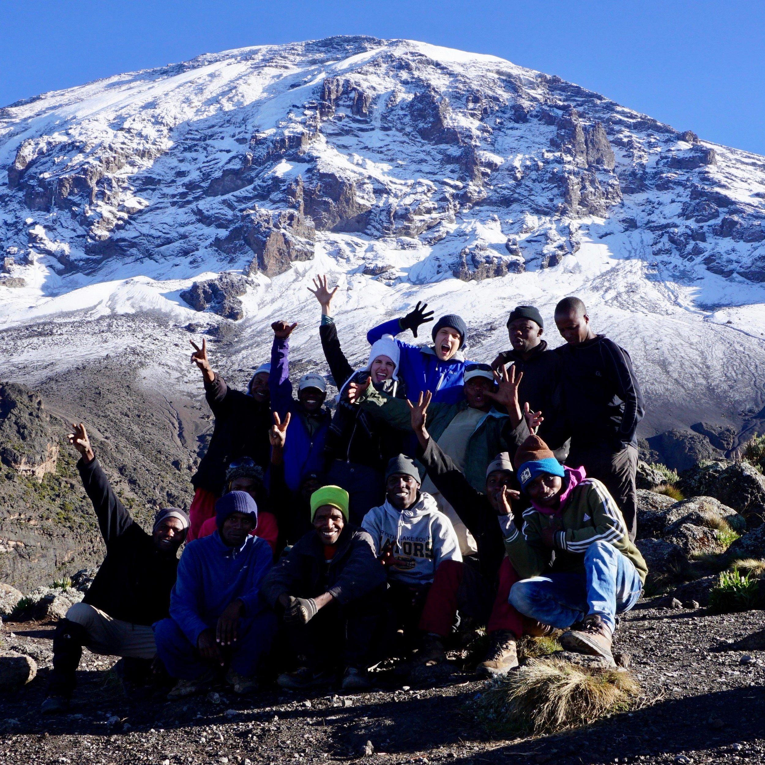 Mount Kilimanjaro at 14,000 ft