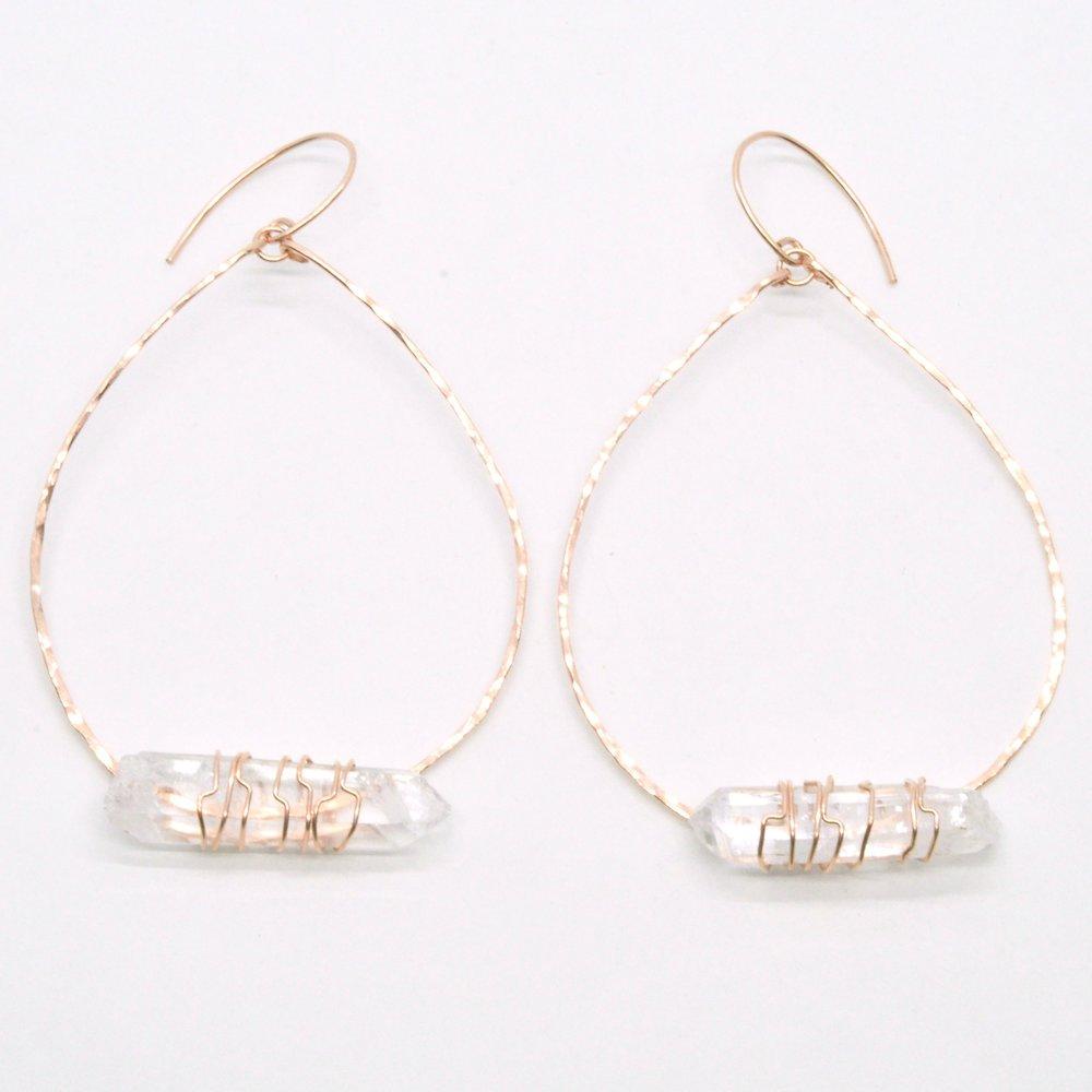 """High Preistess Hoop Earrings - 14K Rose Gold Filled  $90.00  +14K Rose Gold Filled,2 X1 3/4"""""""