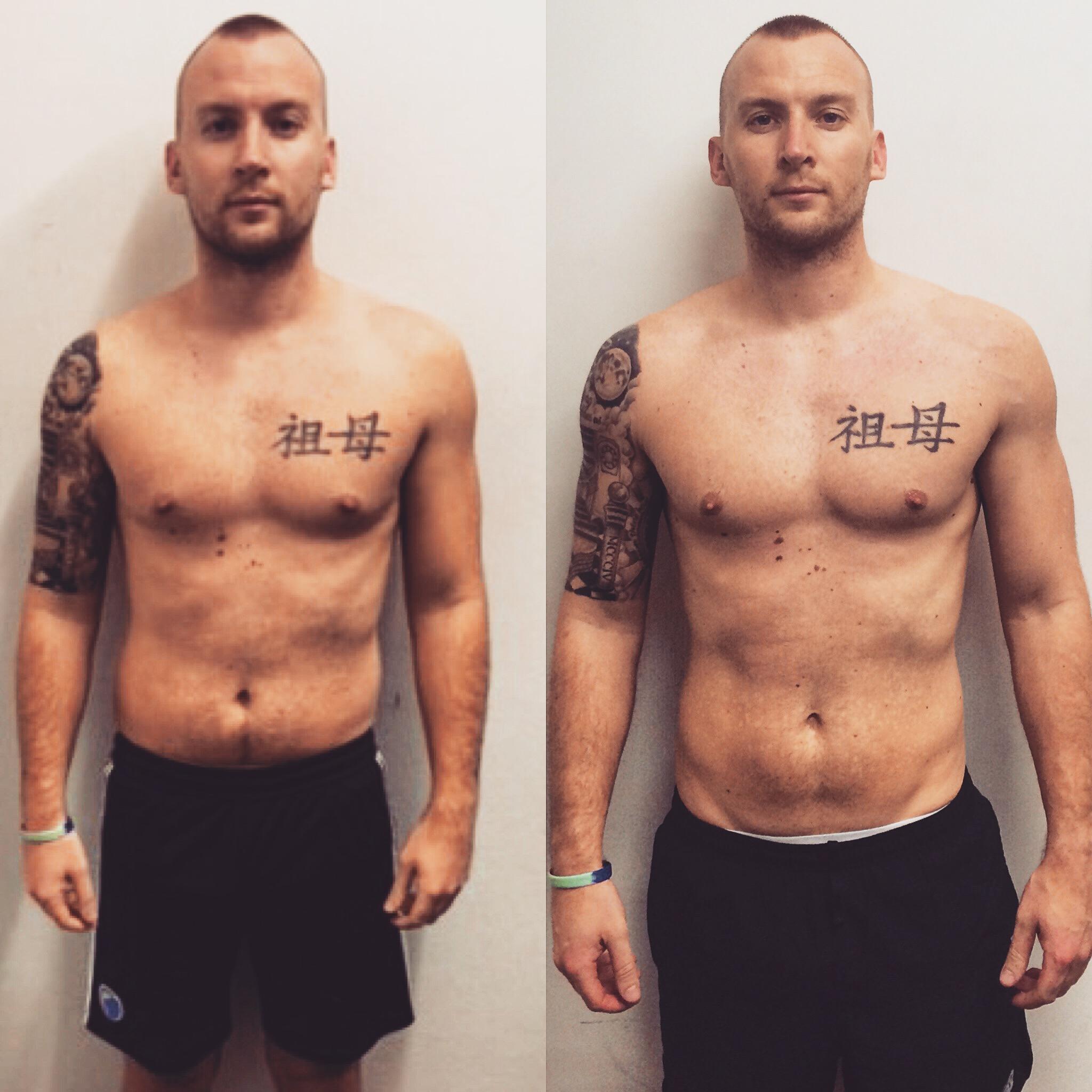 John Bain - 18% Body Fat - 13% Body Fat