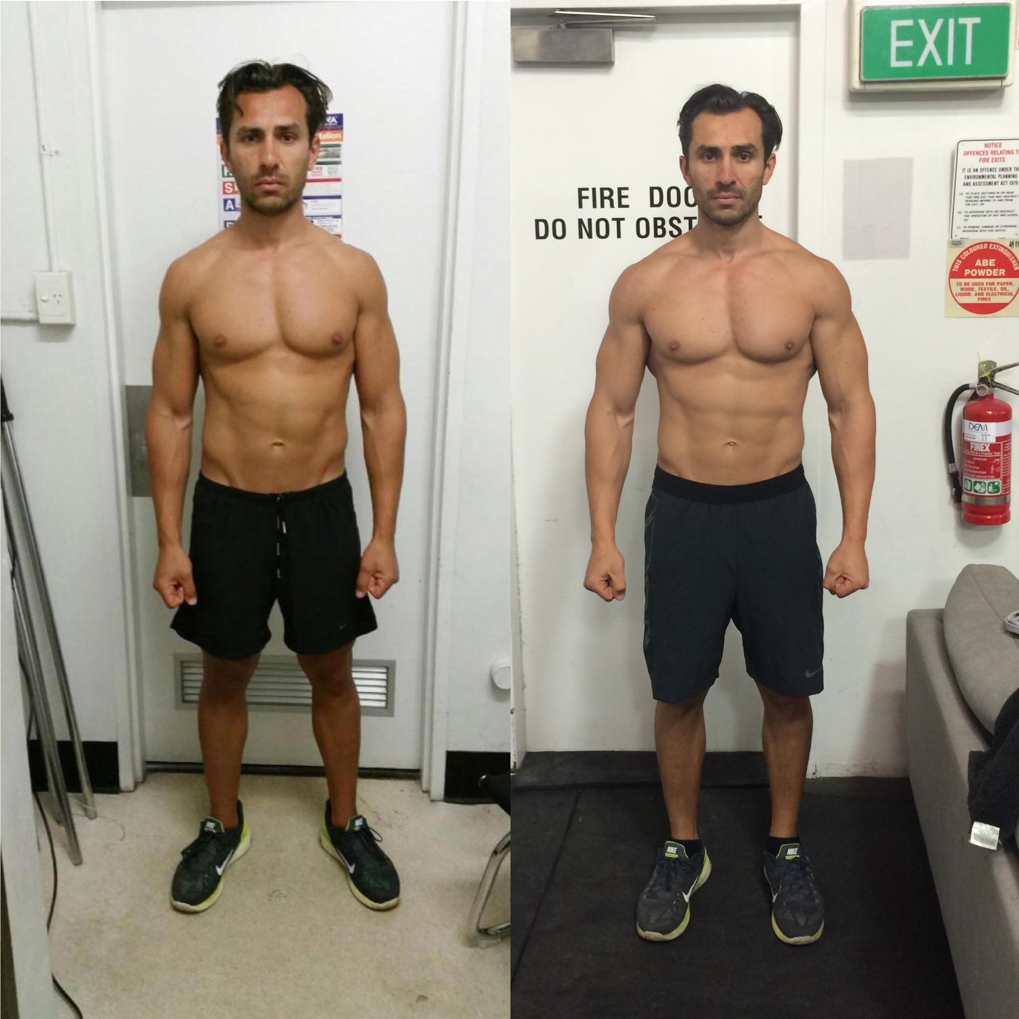 Jamie Spanos - 11.5% Body Fat to 7.4%