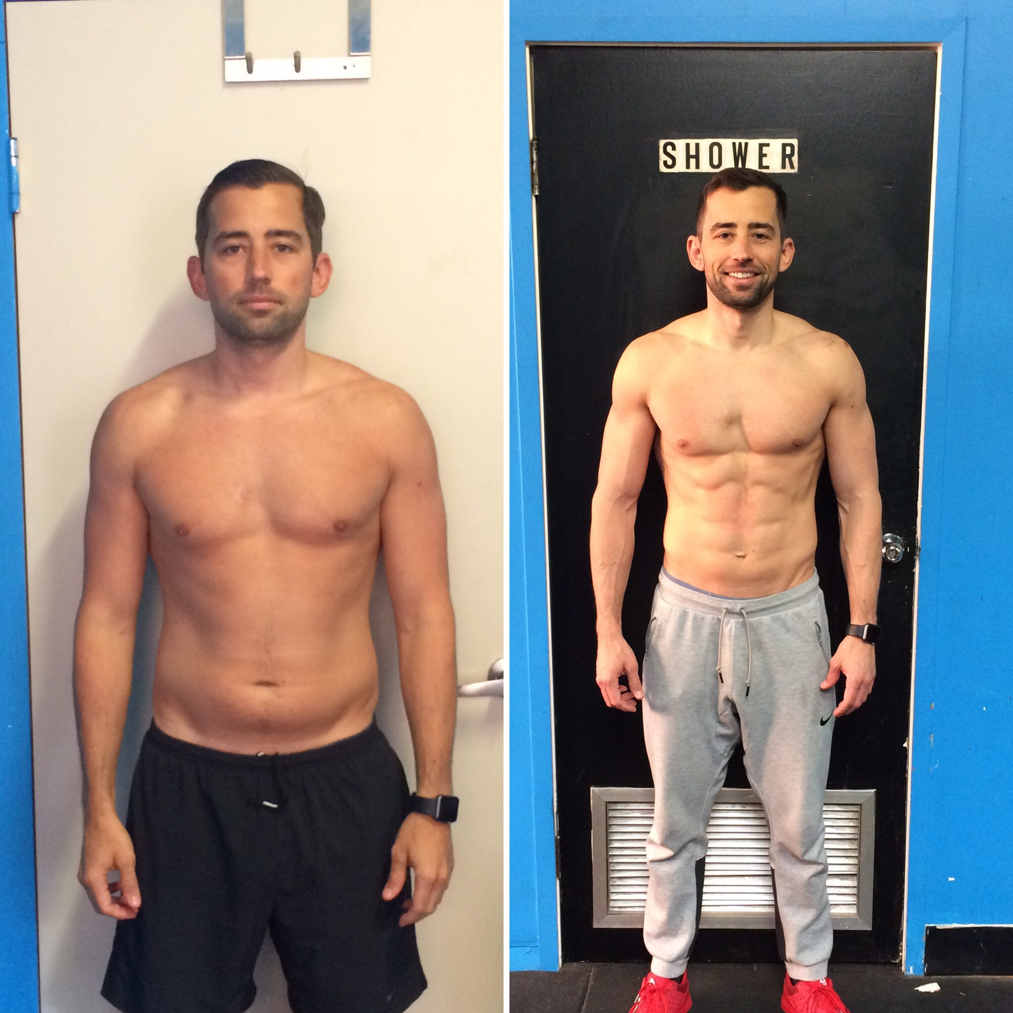 Eric went from 16.6% body fat to 8.0% in a little over 12 weeks