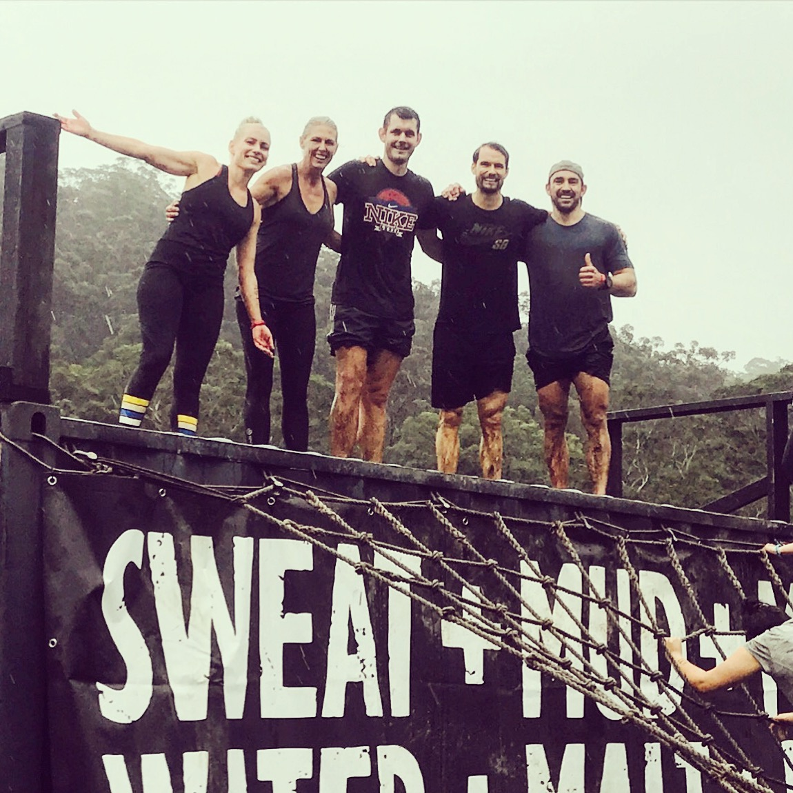 Mud, sweat and tears upon completing 'True Grit' back in June
