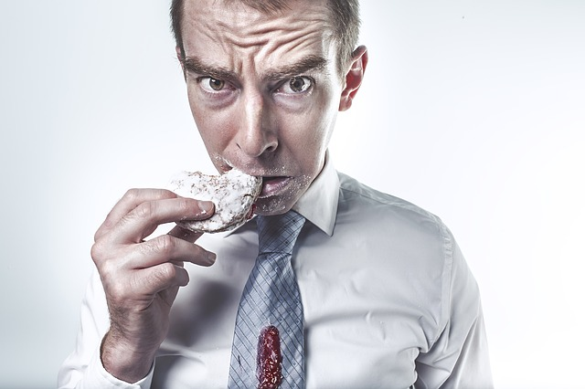 Jim's stress levels and blood pressure rise to uncontrollable levels after he realised he hadn't tracked his rice cakes!