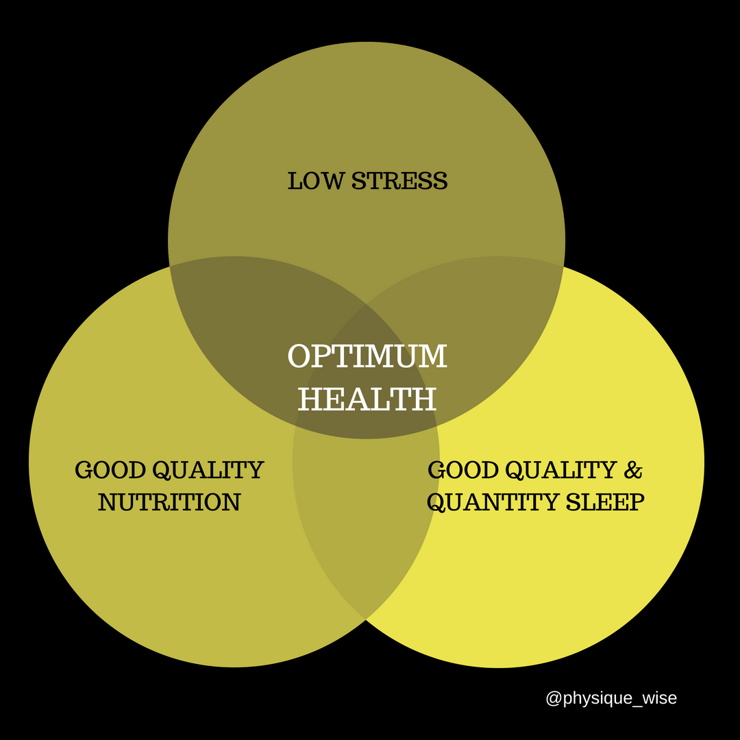 The positive interaction of nutrition, sleep and stress on health