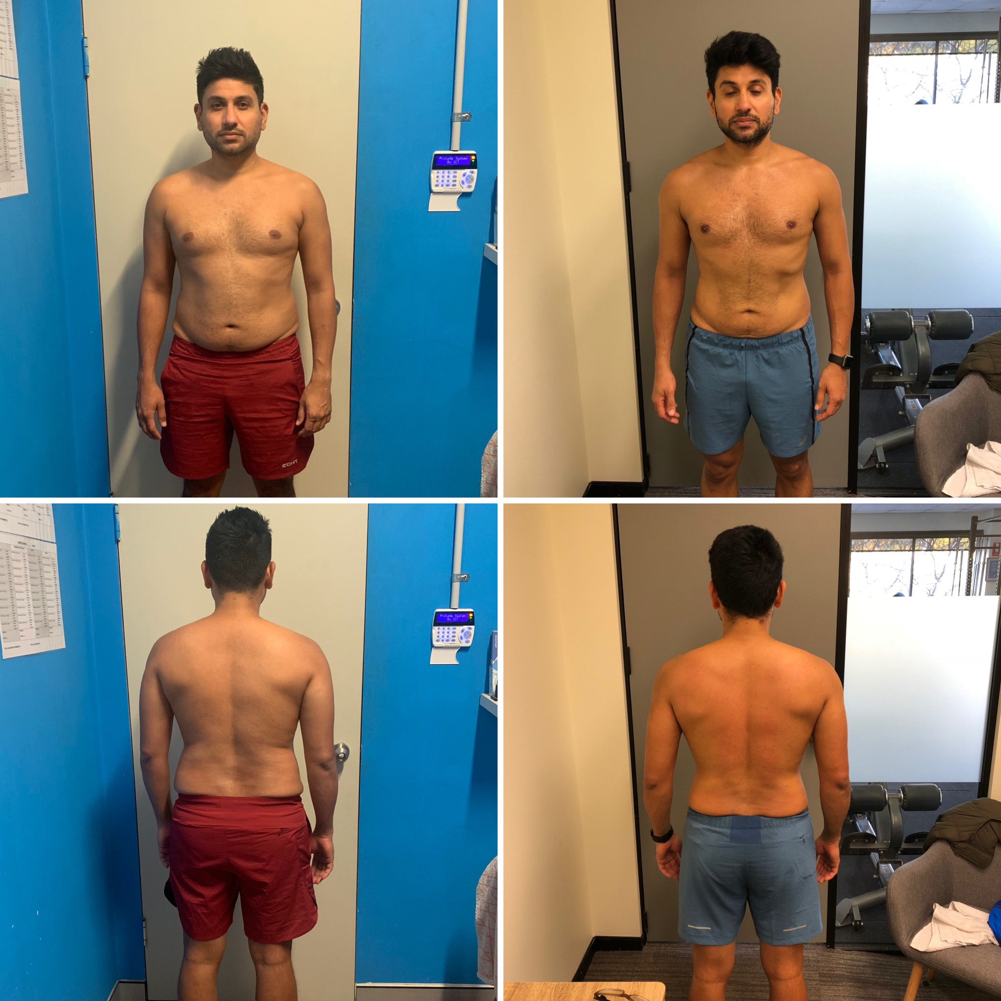 "Neal Pansuria - ""Paul has been instrumental to shape up my physical and mental transformation.My main focus was predominantly cardio based training but since I've started training with Paul he has developed a structured training and nutrition plan to help me to achieve my goals.He has provided continuous support with ongoing nutrition advice through daily follow ups(even when he was overseas he texted me regularly to check my food and activity diary).I have never felt so much better and energetic. I cannot thank enough to Paul for amazing transformation."""