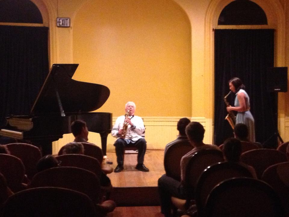 Humbled to play a duo with the great Lee Konitz, 2013