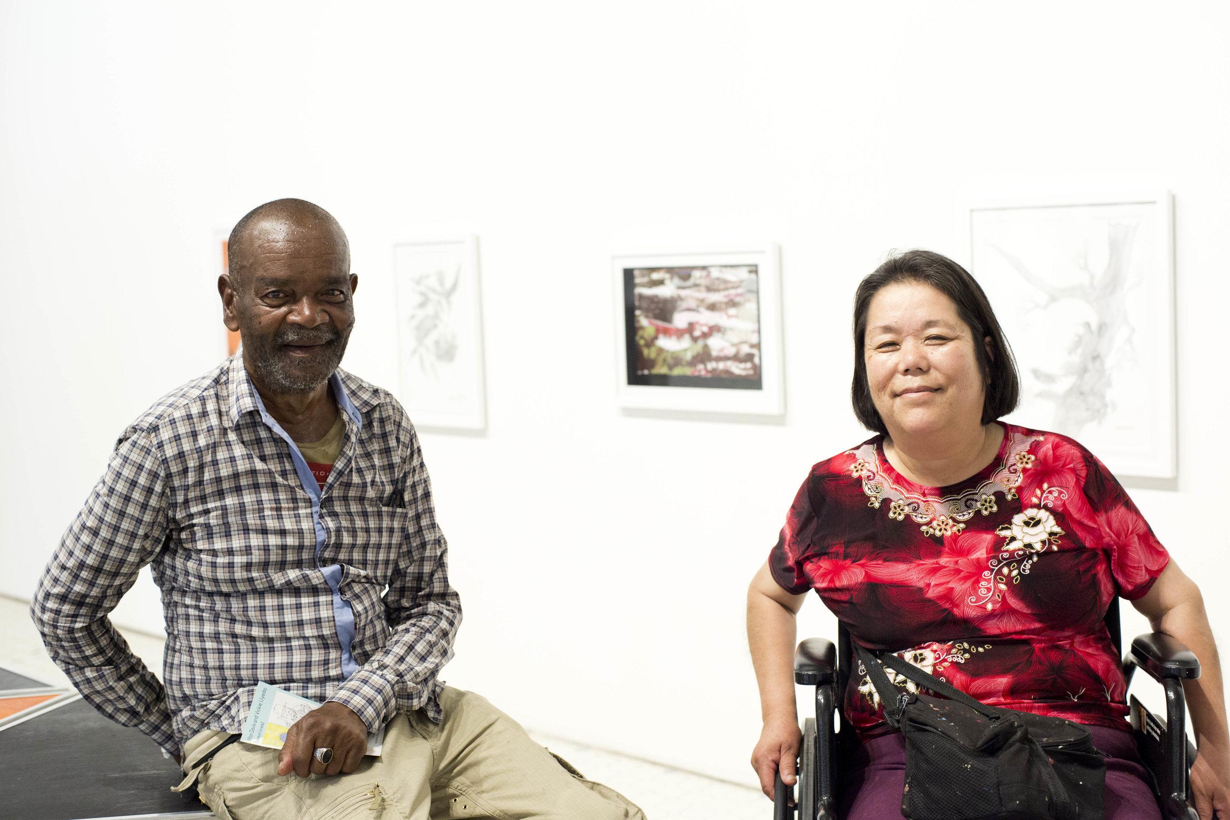 Artists Milton Davis and Vickie Uyeda