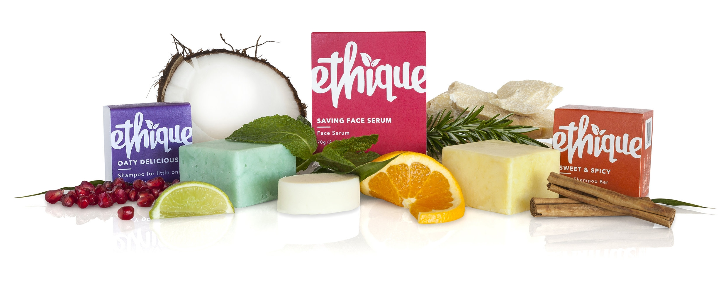 Ethique Oaty Delicious for little ones, Saving Face Serum & Sweer & Spicy Shampoo Bar (ingredient view).jpg