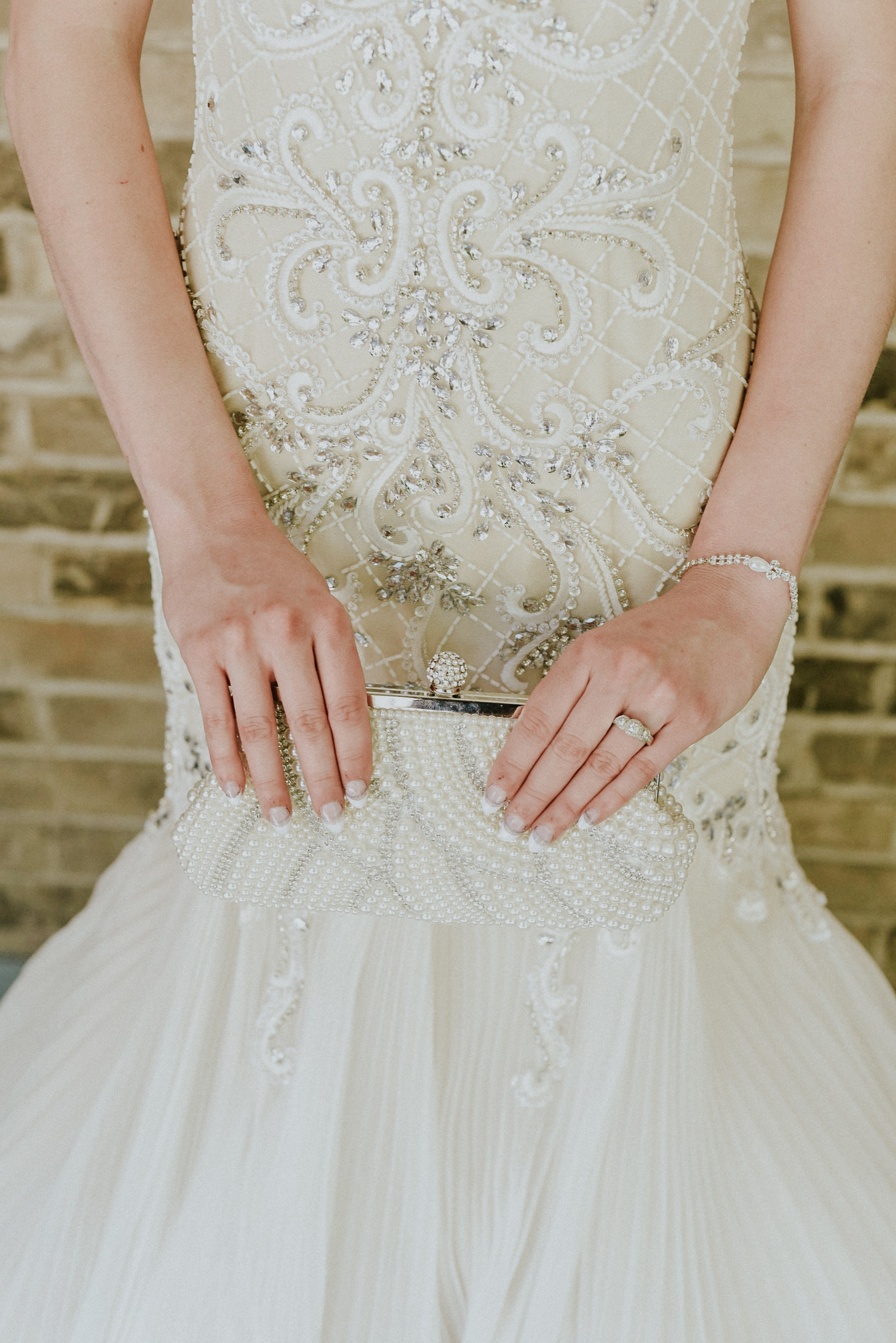 Pearls clutch and wedding dress Styled Shoot Ontario Canada