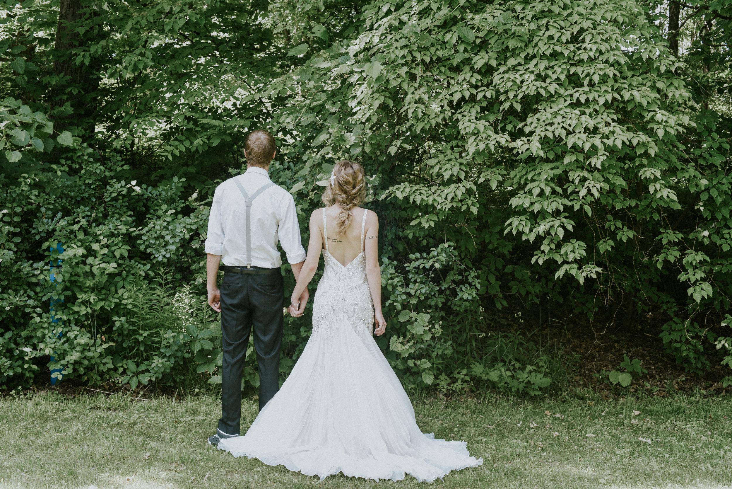 Pearl beaded wedding dress styled shoot Ontario Canada
