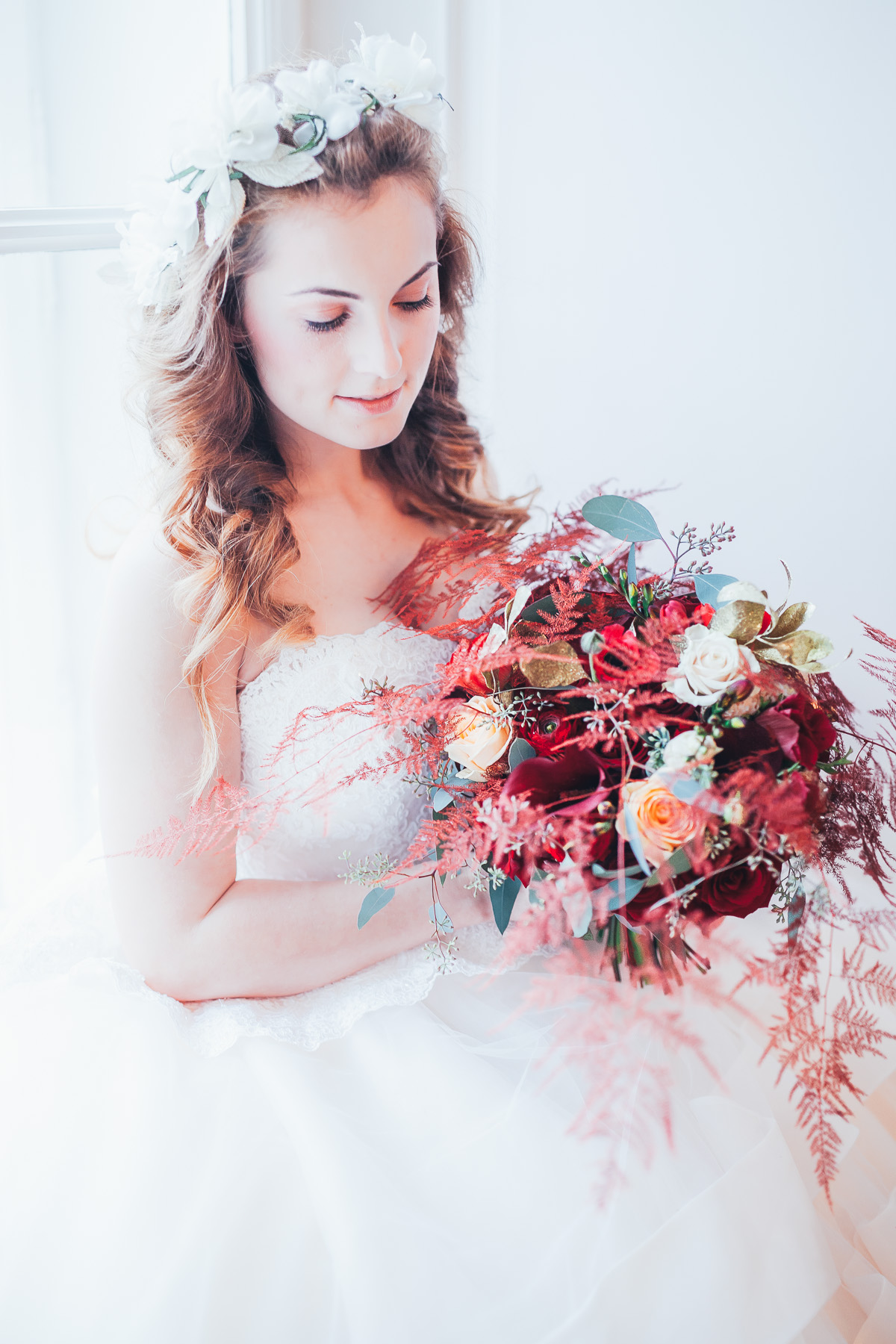 Bridal styled shoot with a horse Metamorphoses by luxury destination wedding planner High Emotion Weddings at the Spanish Riding School Vienna Austria