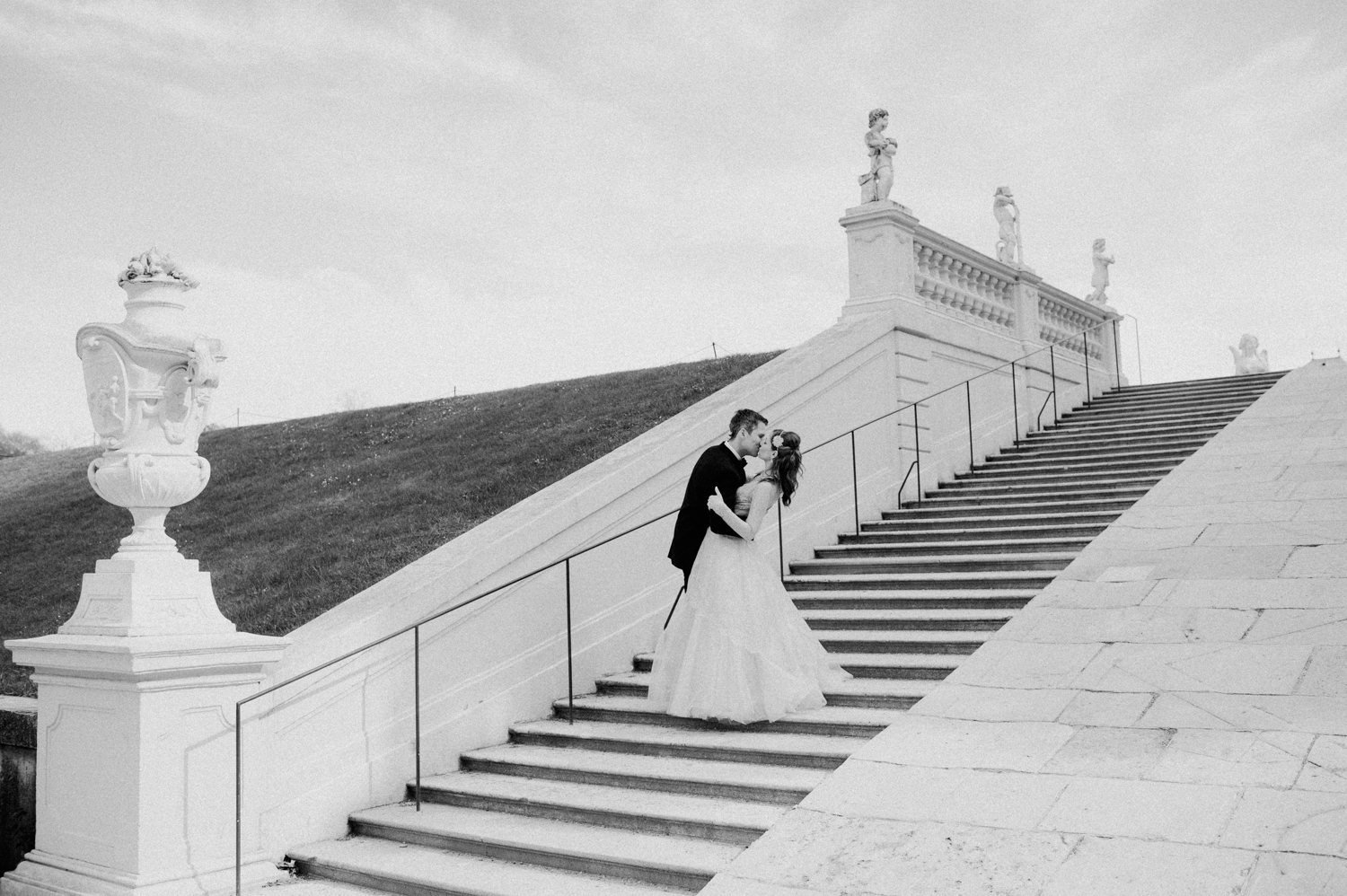 Pre-wedding engagement shooting at Belvedere Palace Vienna Austria by international wedding photographer Claudia Magas Ladies & Lord