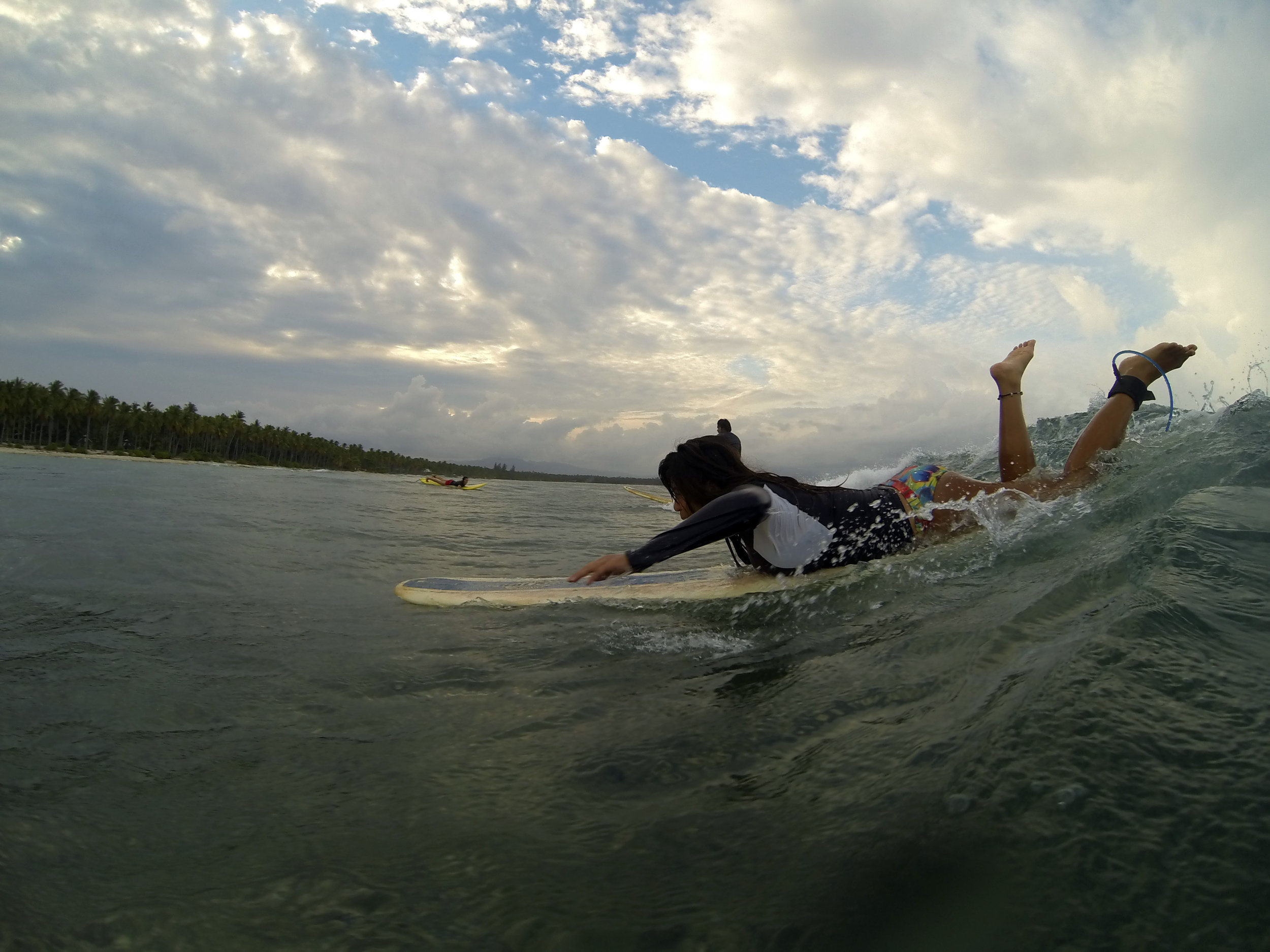 Circa 2014 - Me still learning (and I still am up to now) how to catch waves. Hence, the awkward position.