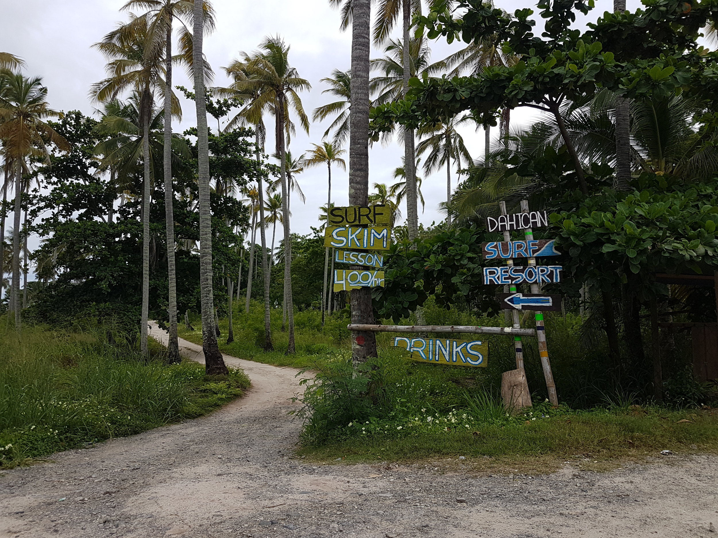 If these signs aren't inviting you to come and check out the laidback resort behind this then maybe you aren't that stressed enough yet. Surf and skim lessons are also offered in other resorts around the area but I've only tried it in Dahican Surf Resort.