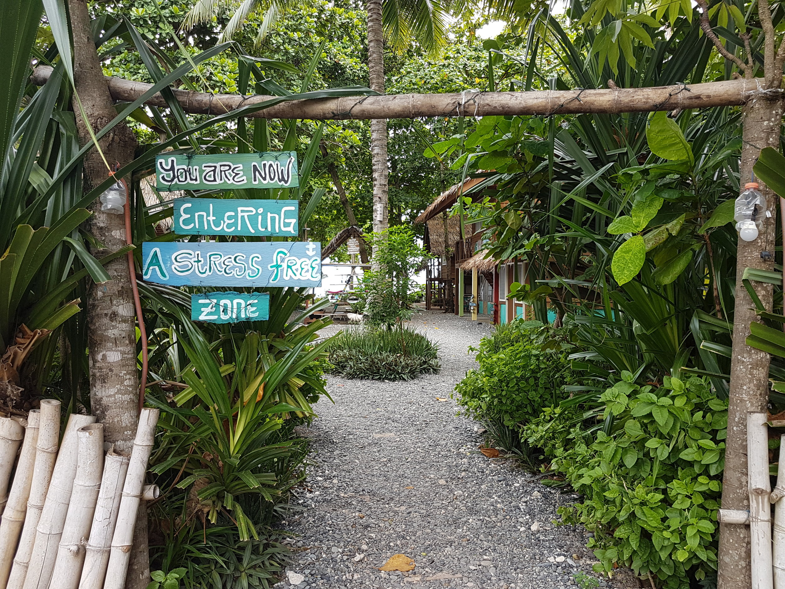 I think this sign says it all. Welcome to the stress-free side of Davao Oriental.