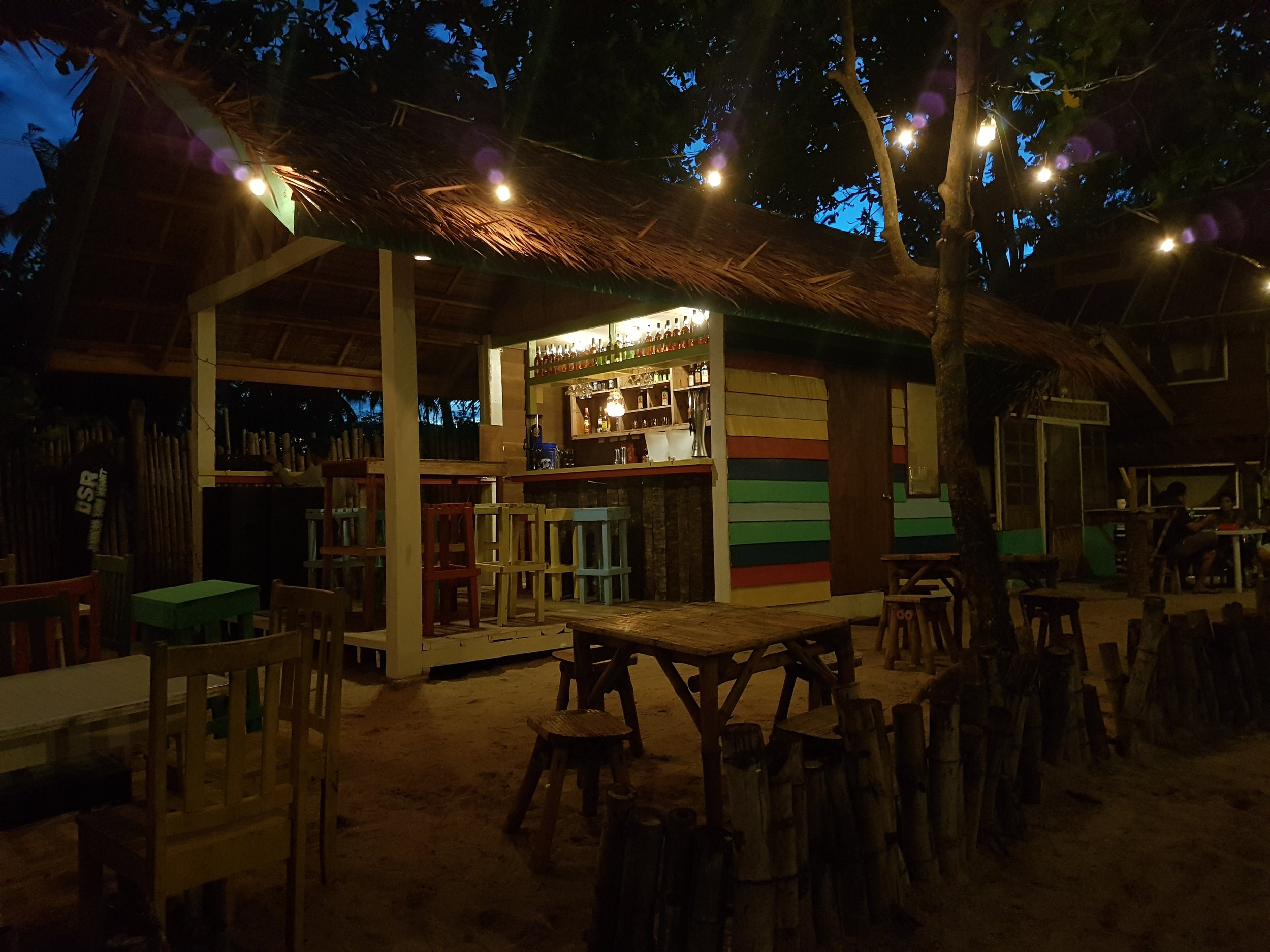 The calm before the party. This night shot of Surf Shack's al fresco dining area is definitely so inviting.