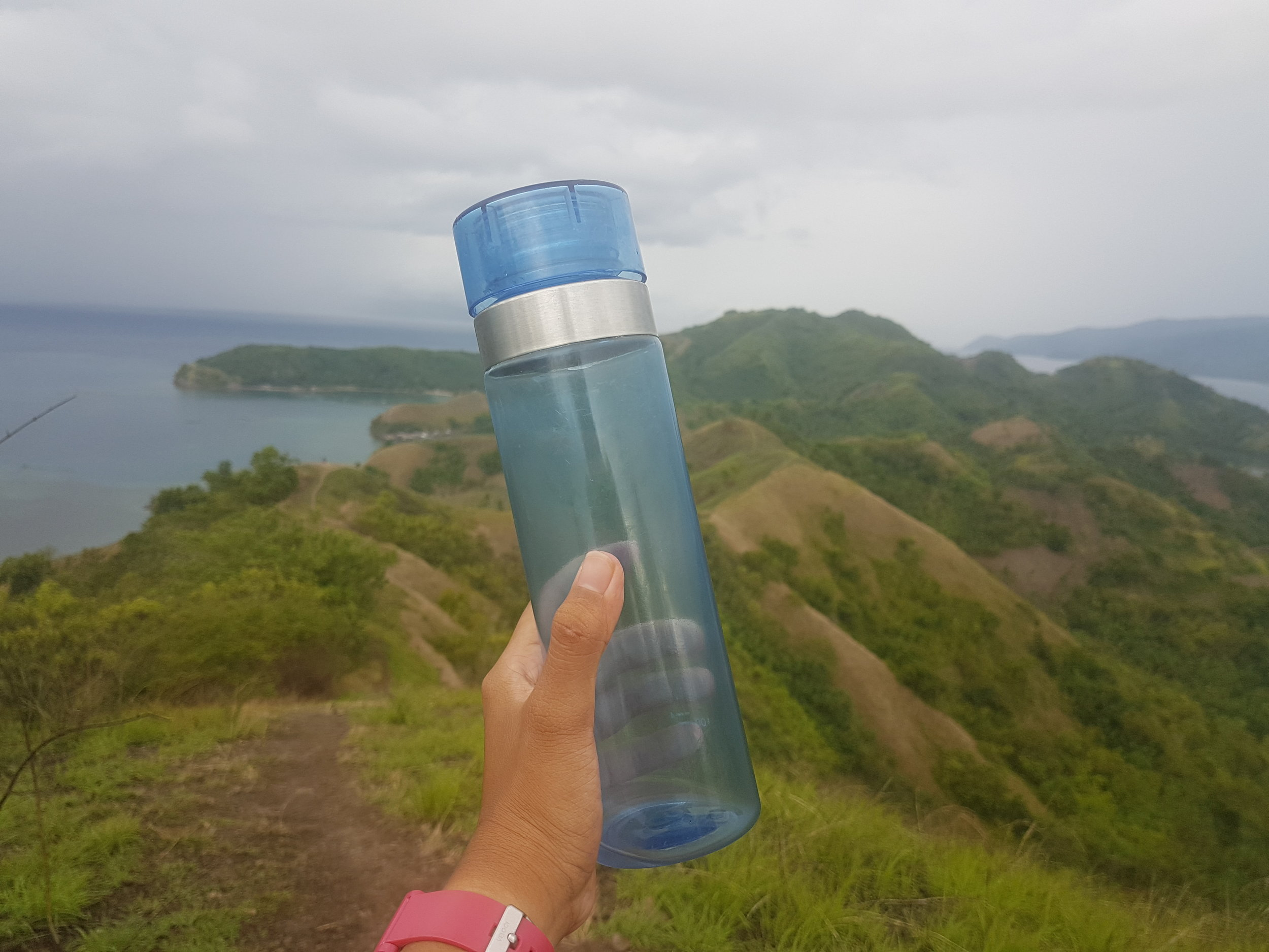 Bring your own drinking bottle. It's a cheap and plastic free alternative to buying plastic water bottles for one time use.