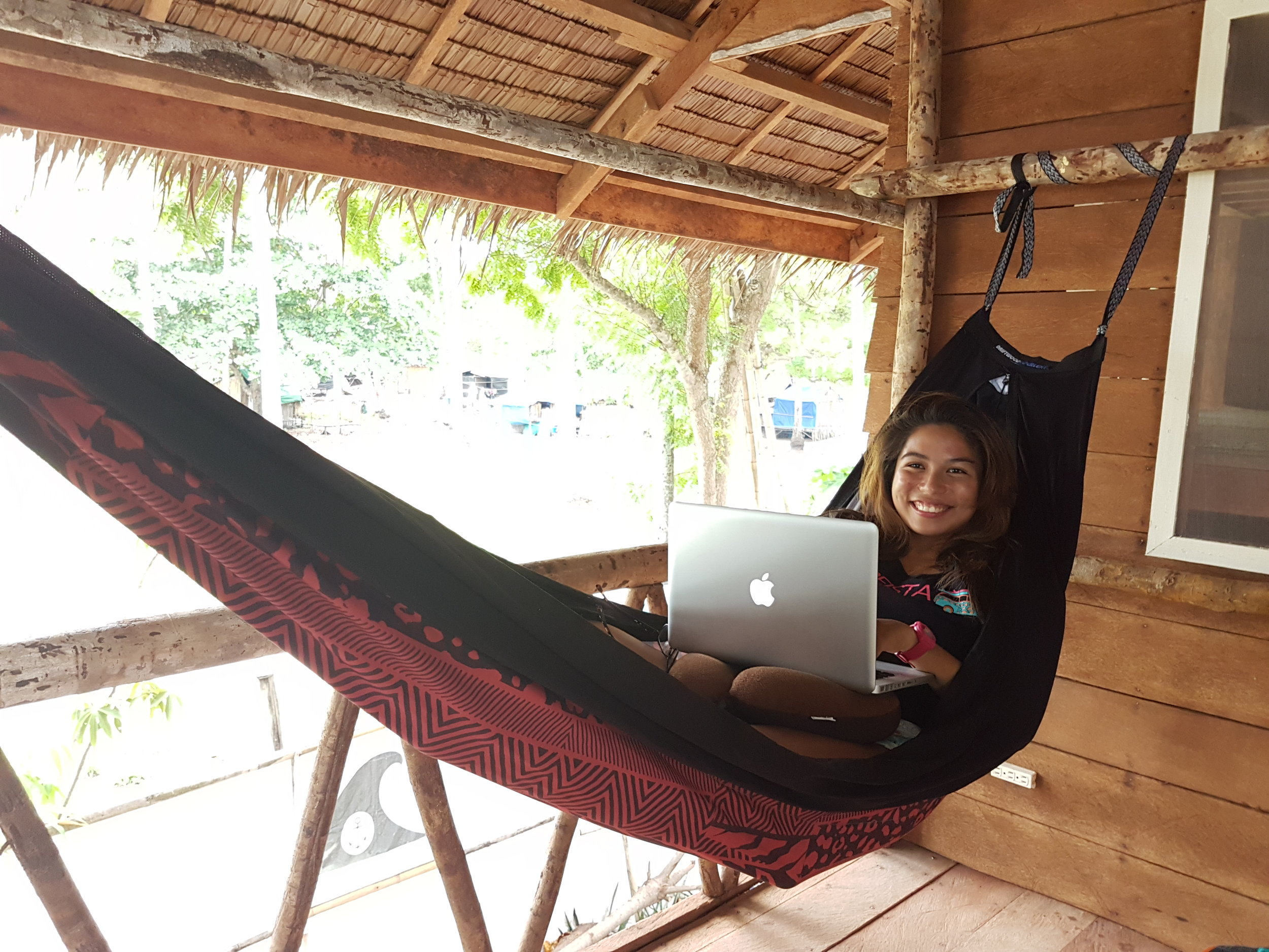 Barely a month old with the change in career and here I am writing in a hammock with the best views in town!