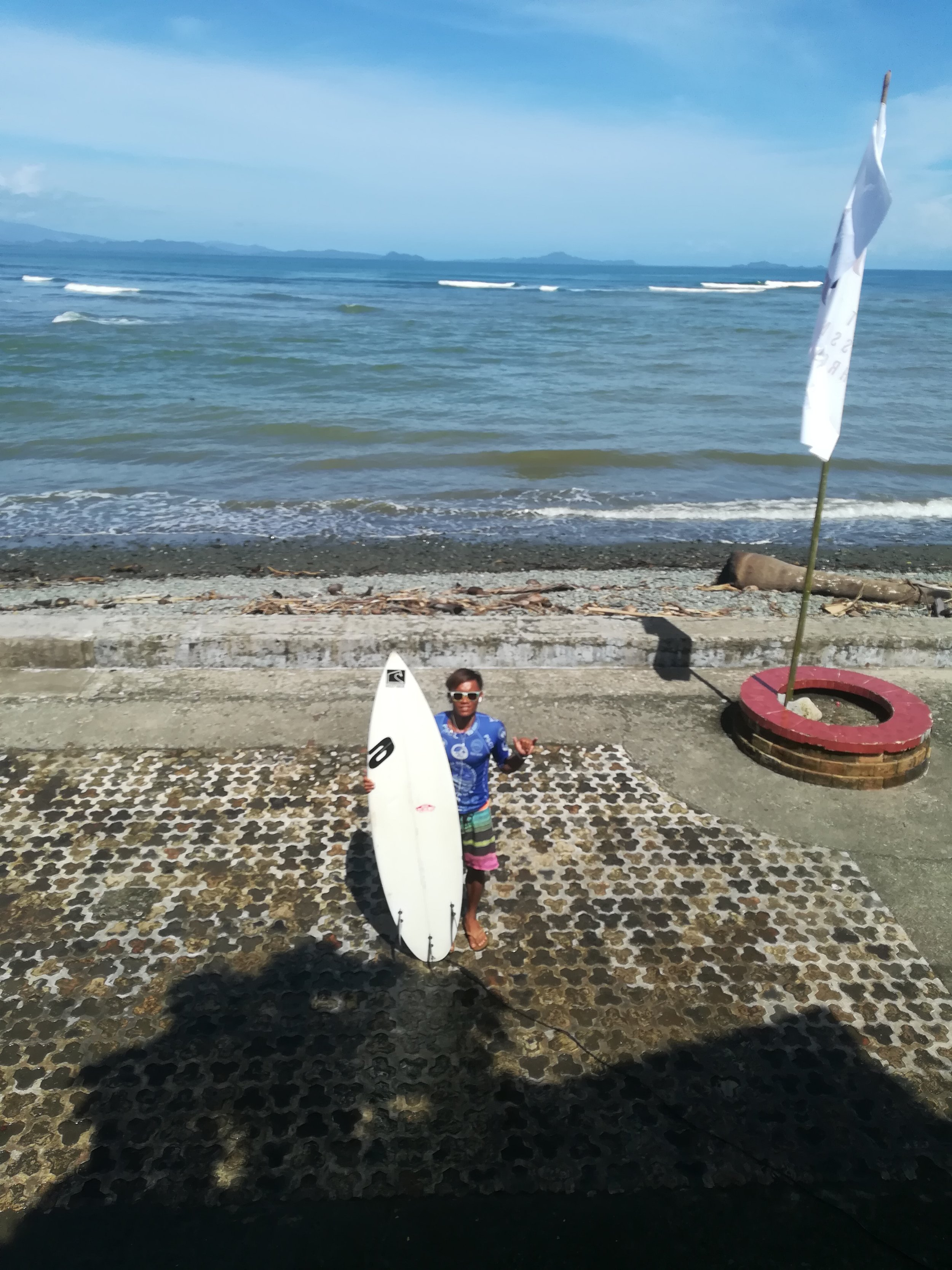 Dahican local Chito Plania getting ready for this Round 3 heat.