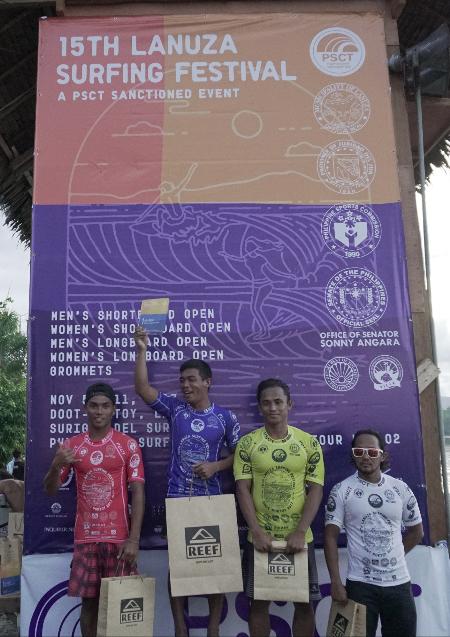 Men's Longboard winners.