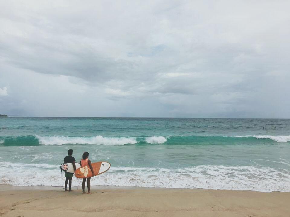 Surfing in Dahican   Millennial Mermaid
