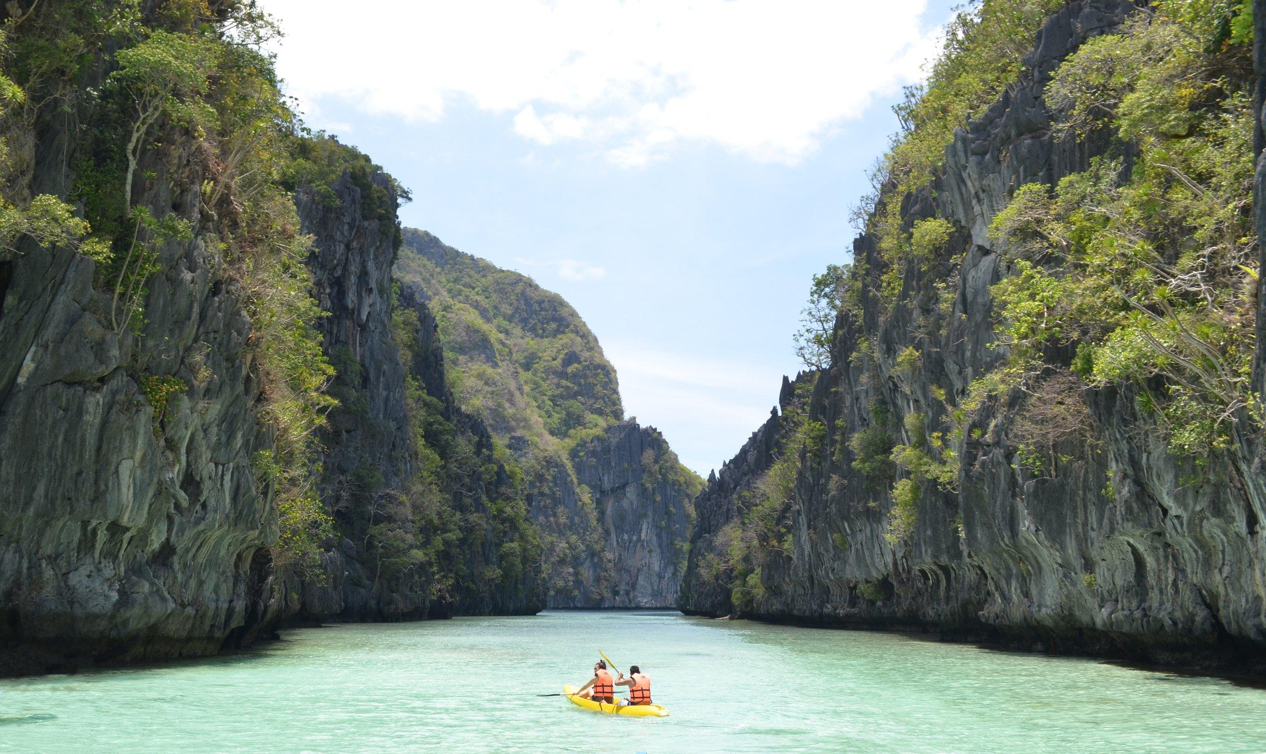 Entering Big Lagoon in El Nido, Palawan. Photo by Ehmir Bautista.