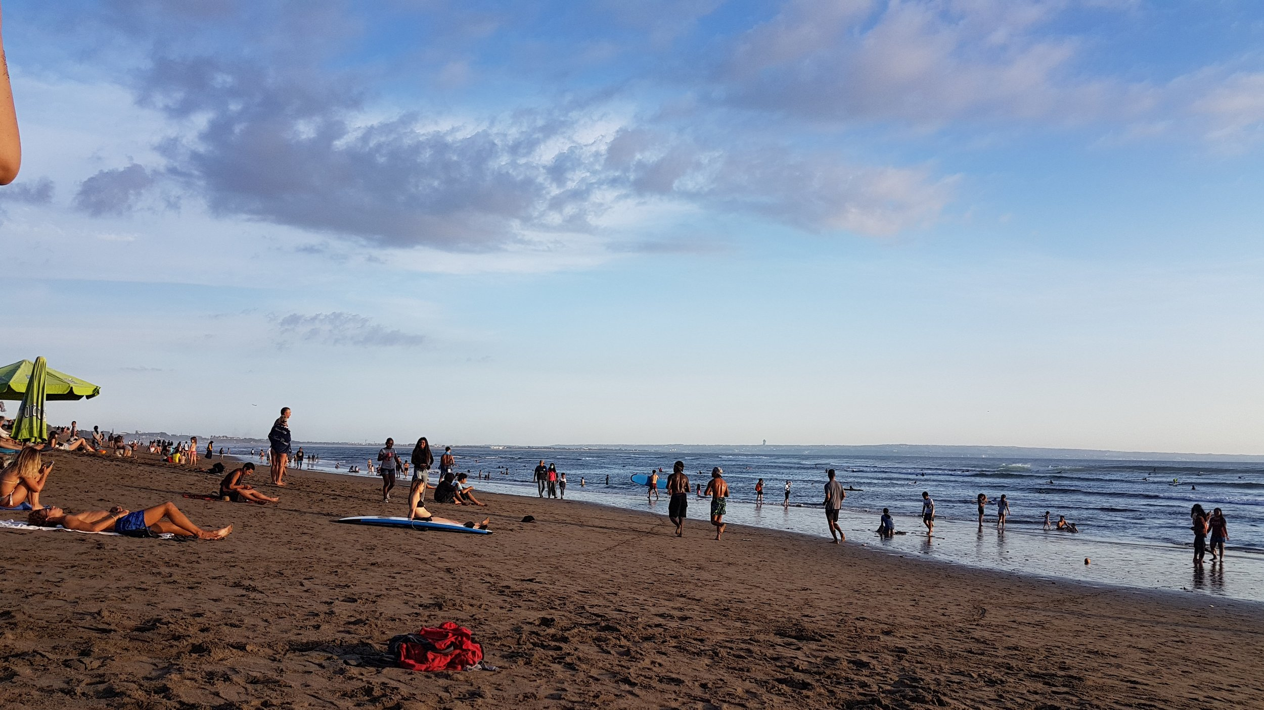 A normal day at Canggu's Batu Bolong Beach.