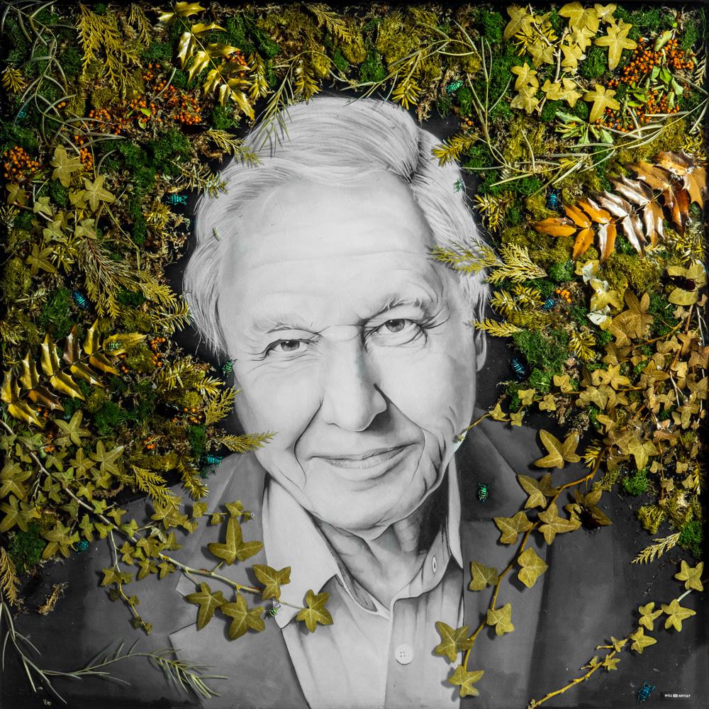 Copy of David Attenborough Original Resin Painting