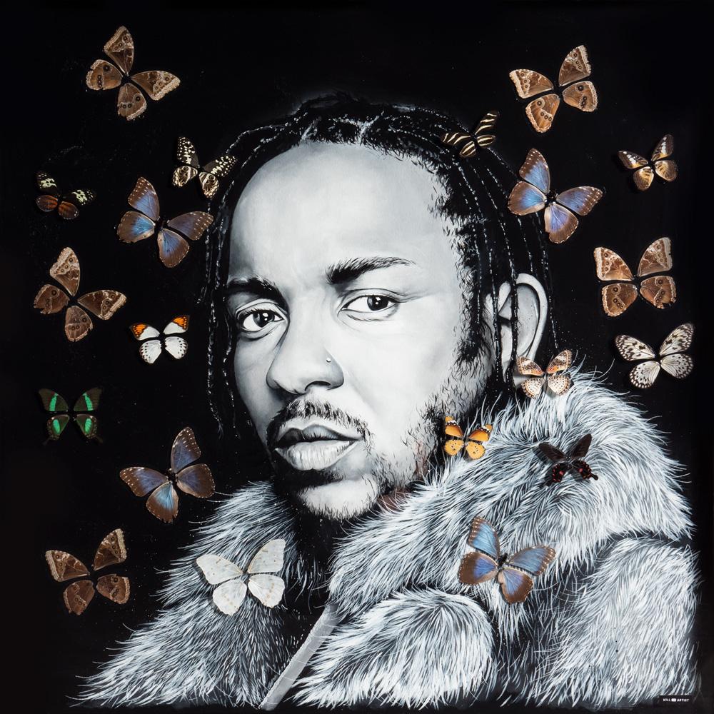 Copy of Kendrick Lamar Original Resin Painting
